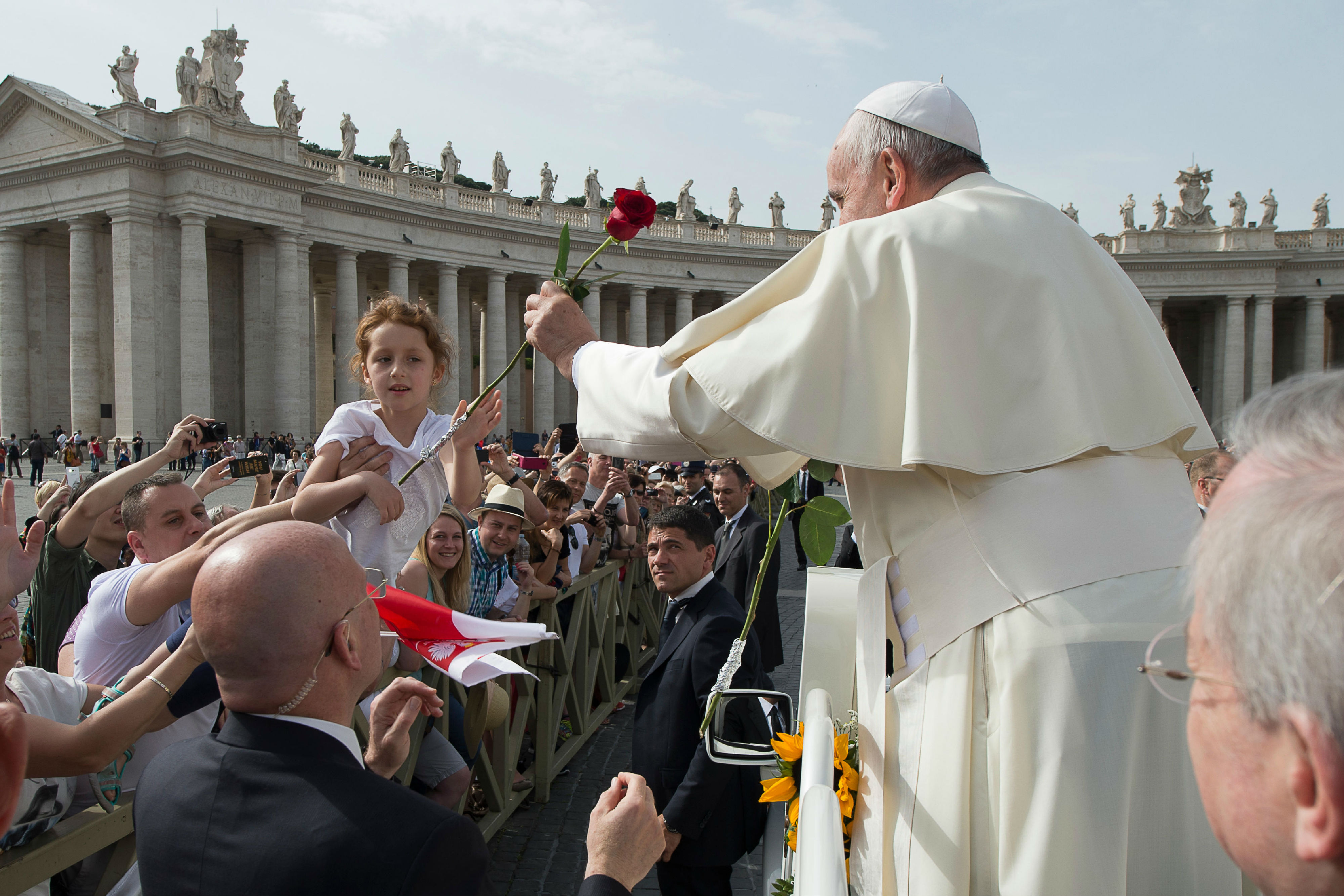 Pope Francis during the General Audience of Wednesday