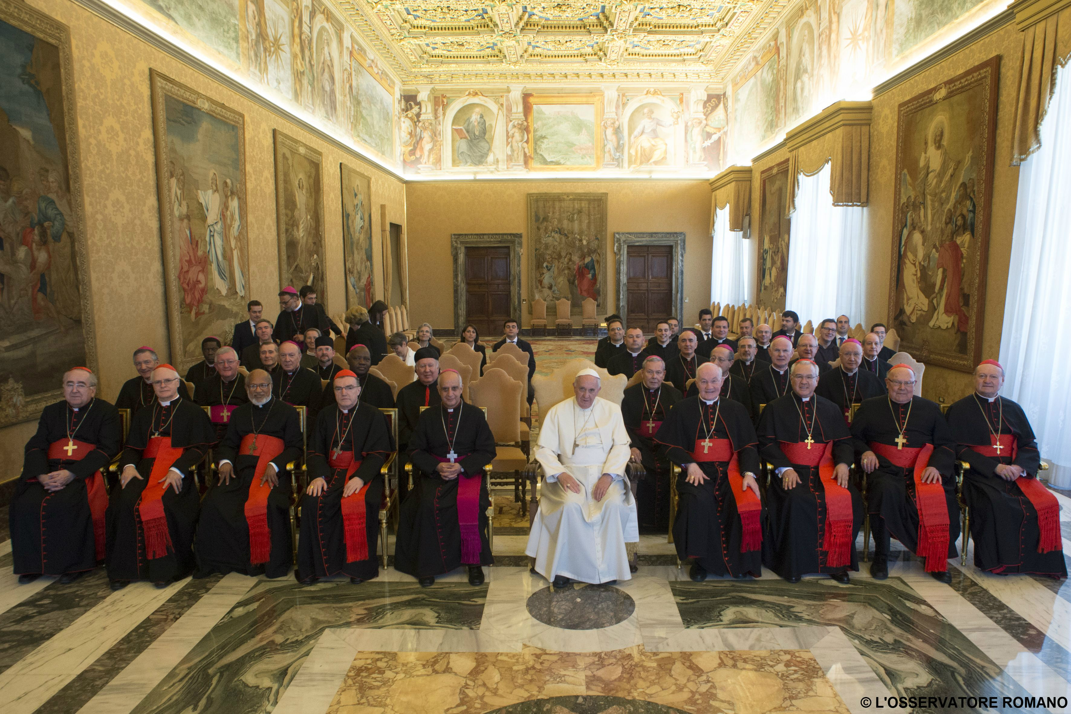 Pope Francis met today with participants of the Plenary Assembly of the Pontifical Council for Promoting the New Evangelization