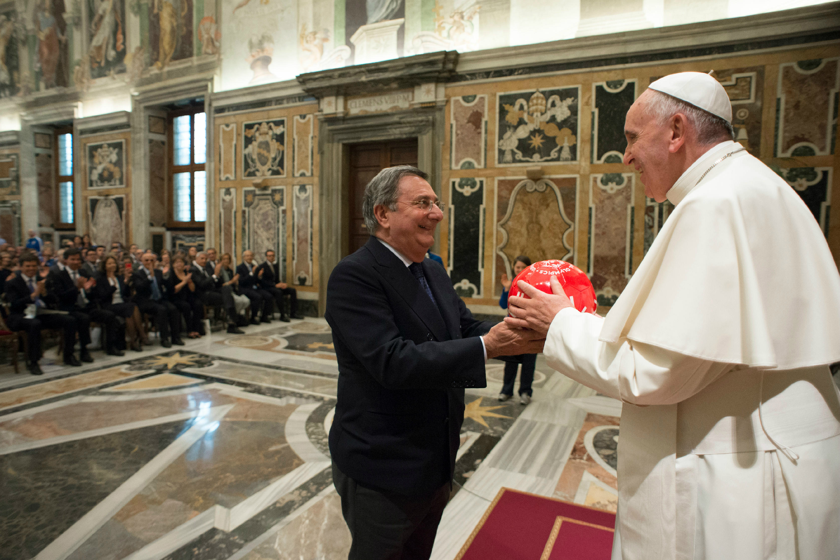 """Pope Francis meets with a delegation of athletes of """"Special Olympics Italia"""""""