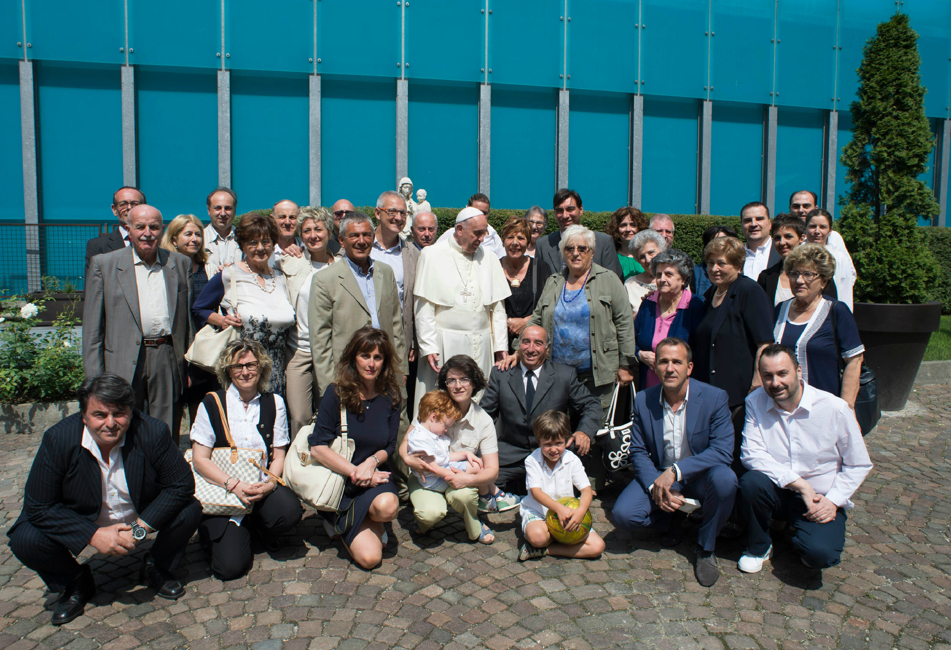 Pope Francis met with some members of his family during a strictly private meeting