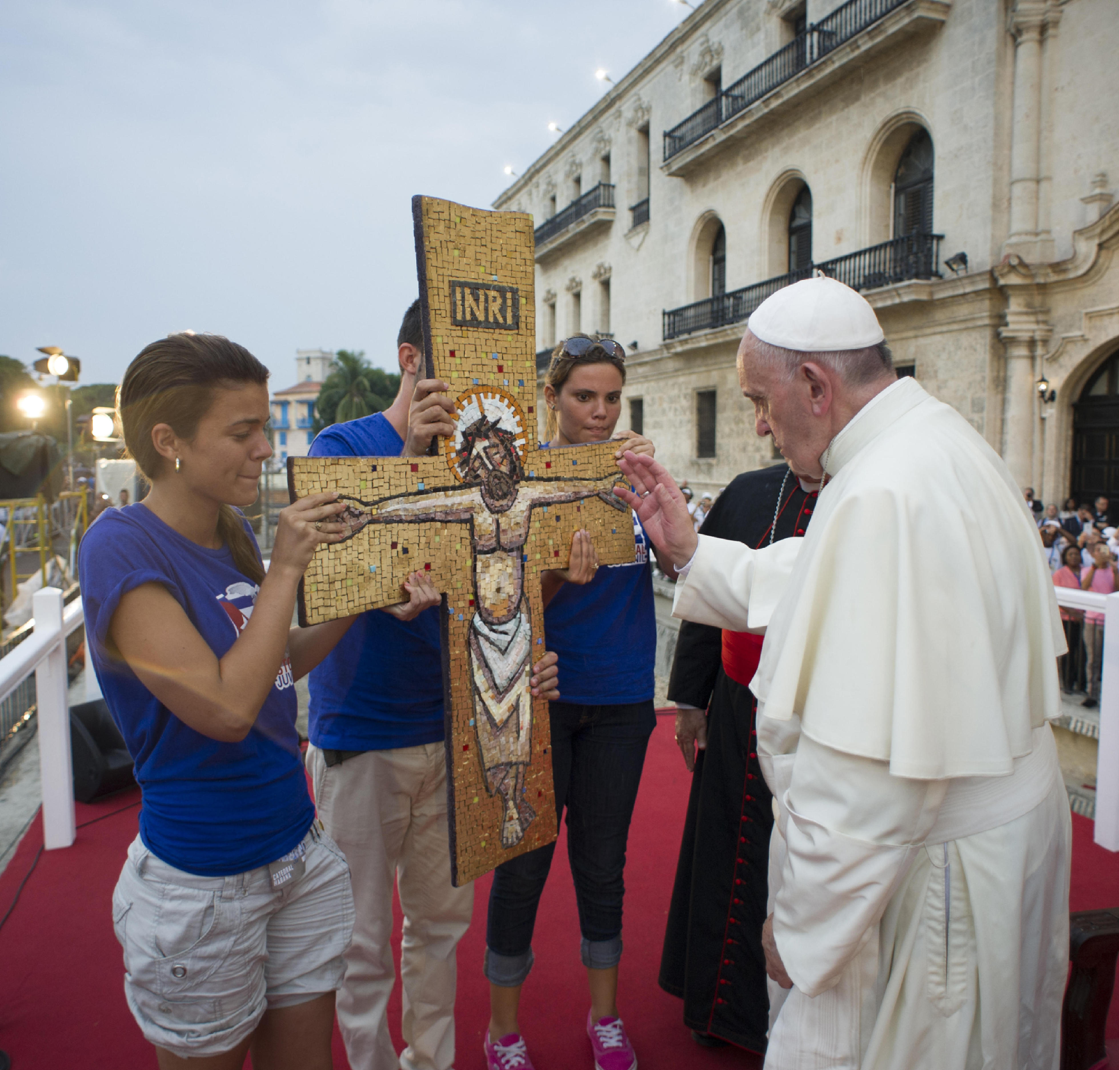 Pope Francis' meeting with Cuban youth at the Felix Varela Cultural Center in Havana