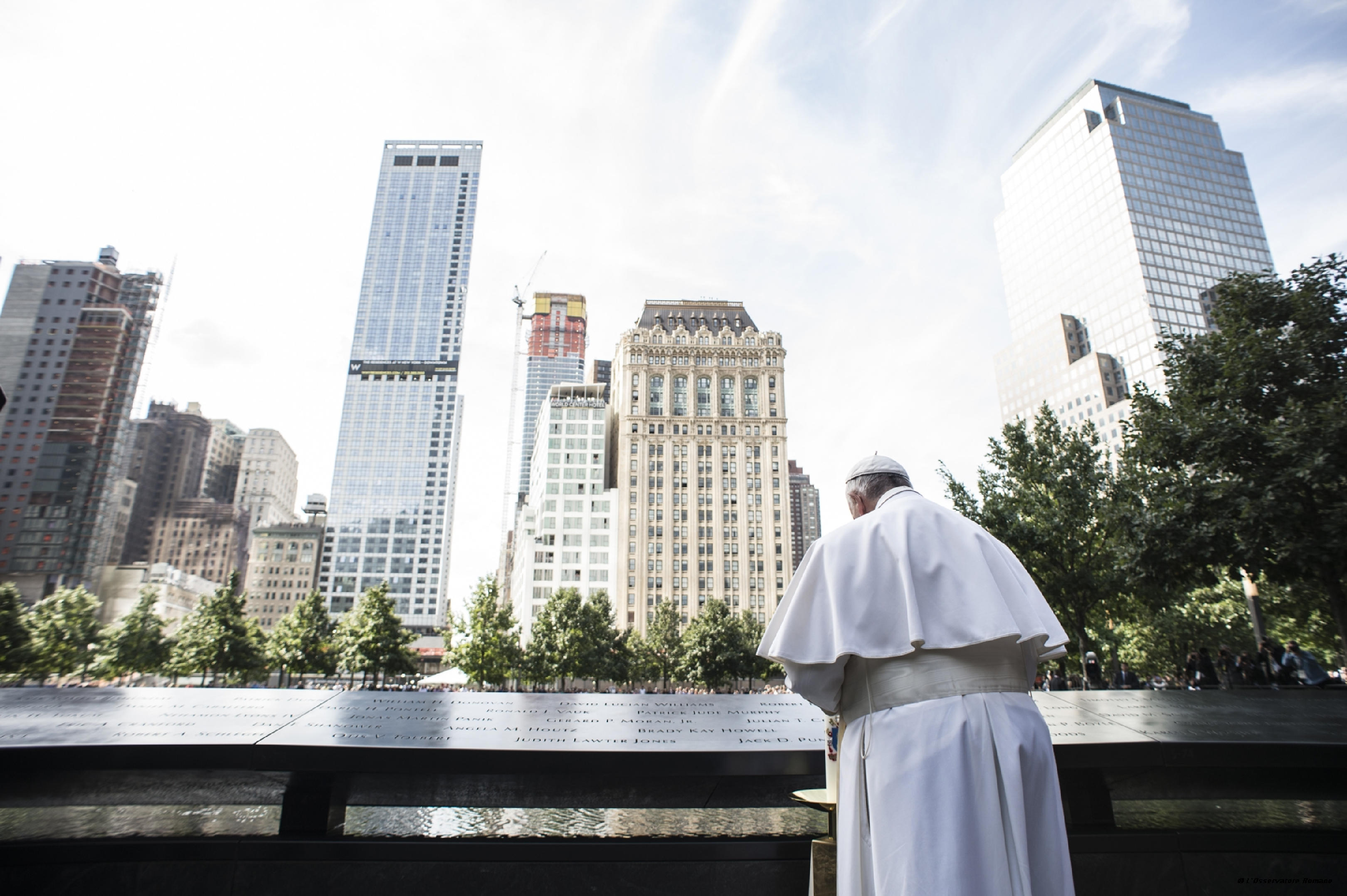 Pope Francis at Ground Zero