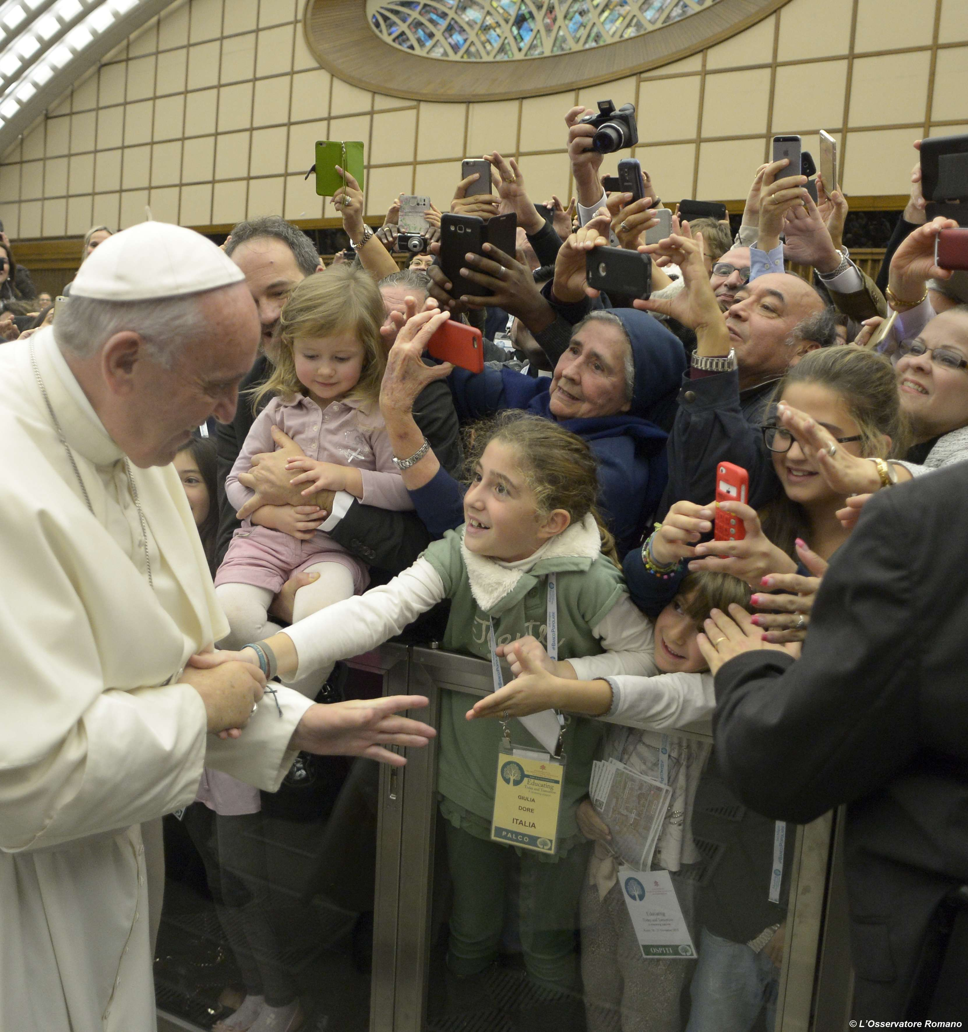 """Papal audience to the partecipants at the World-wide Congress """"Educate today and tomorrow. A renewing passion"""""""