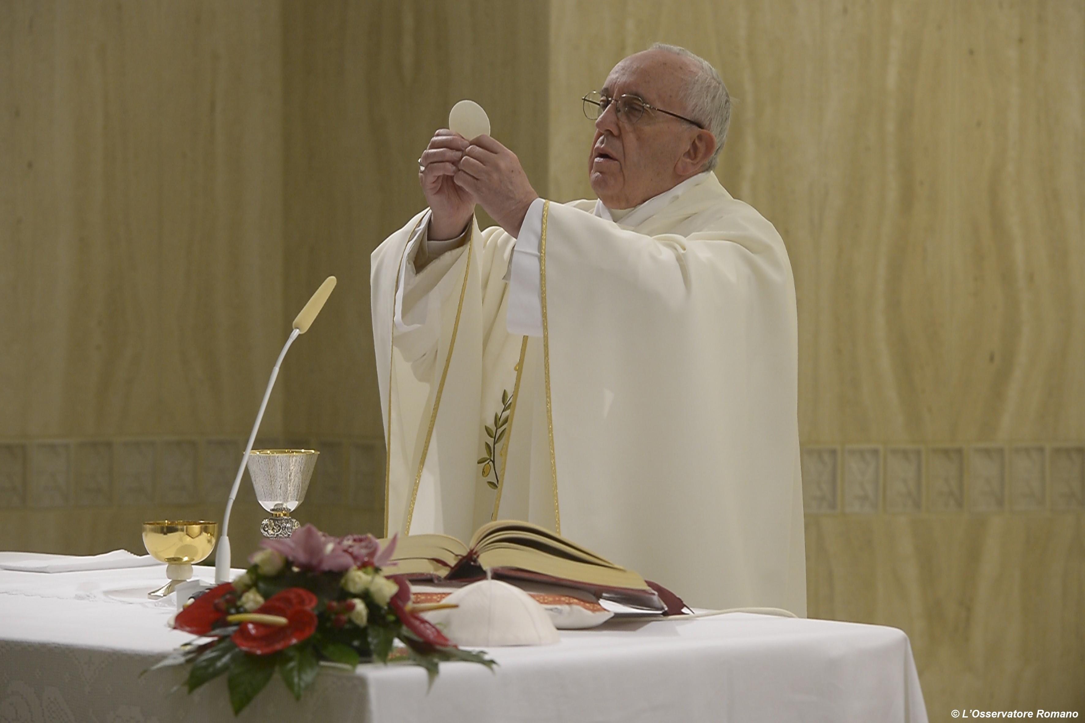 Pope Francis celebrates Holy Mass in Santa Marta