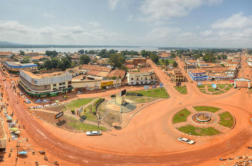 City centre of Bangui