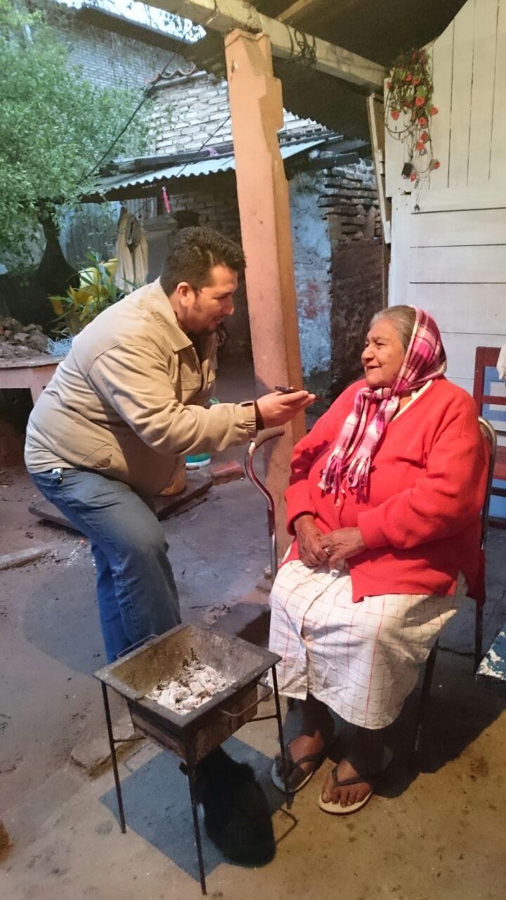 Mrs. Asunción will host the Pope in his house in the neighborhood Bañado Norte
