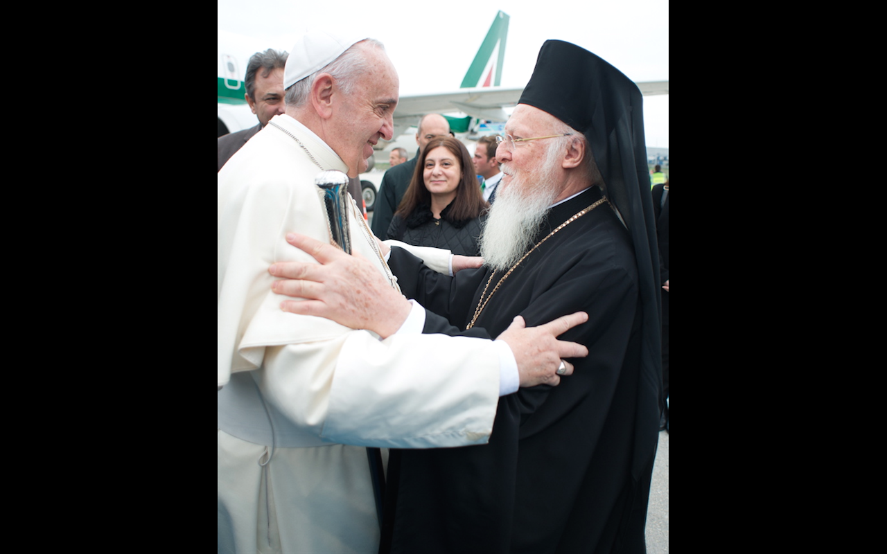 Pope Francis and patriarch Bartolomeo