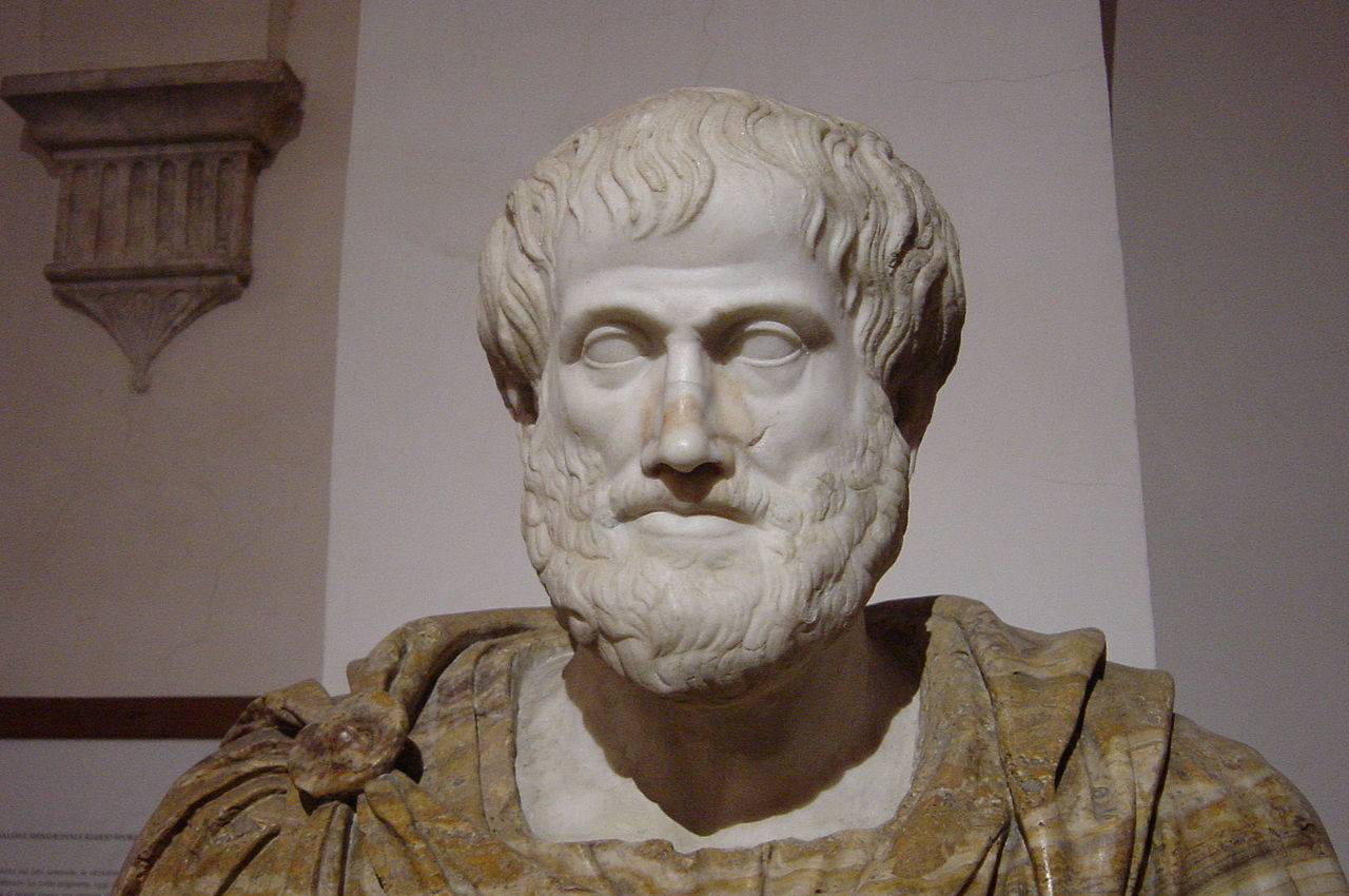 Bust of Aristotle. Marble