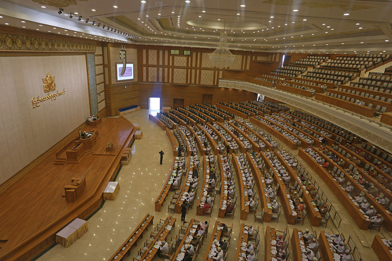 Members of Myanmar Parliament attend the Lower House session in capital Naypyidaw