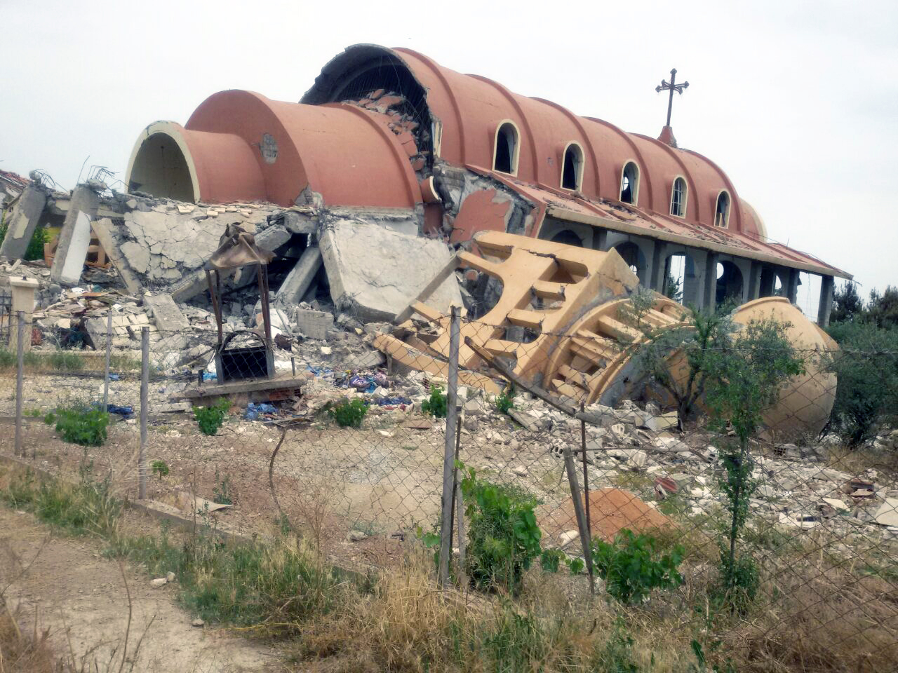Church destroyed during the war in Syria
