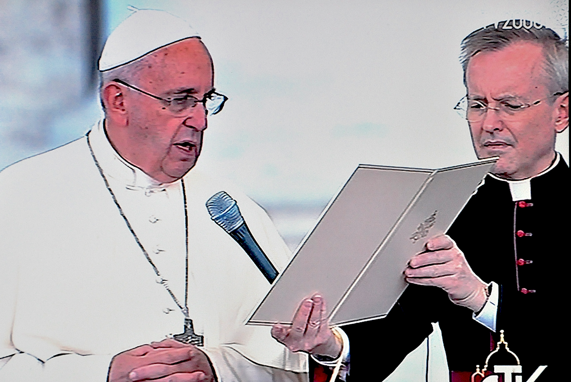 Pope francis with diocesan congress