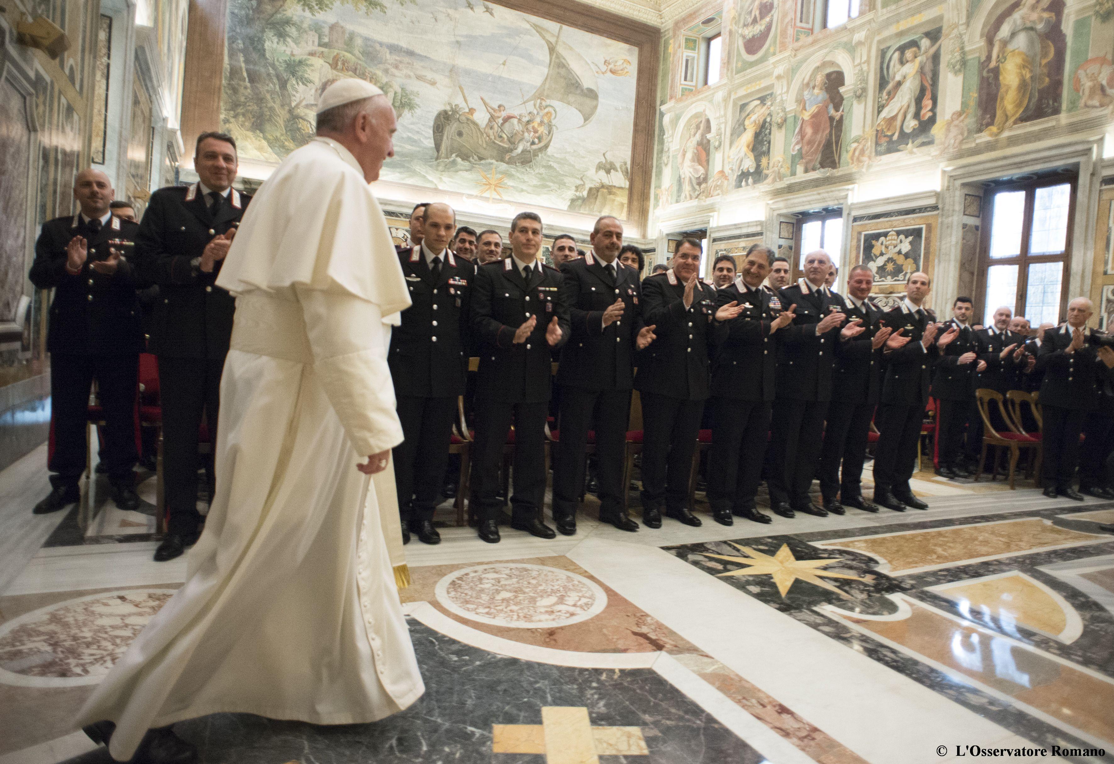 Papa Francesco e i Carabinieri