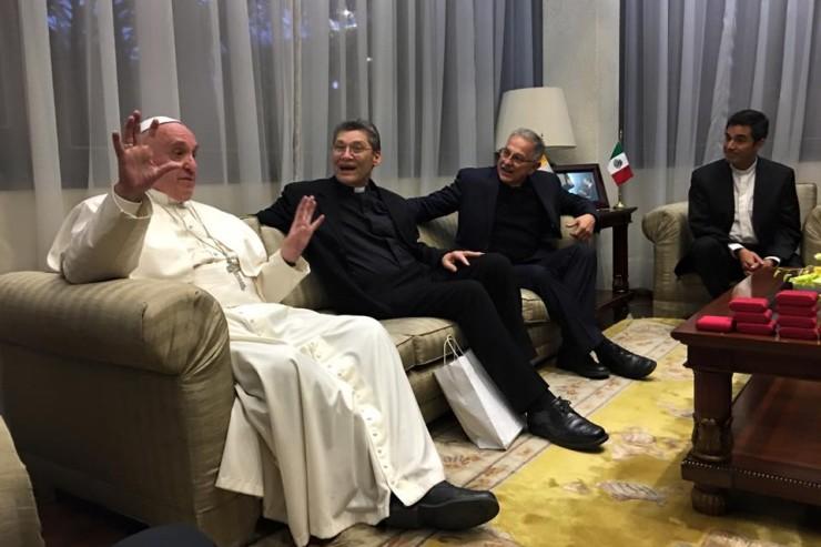 Papa incontra gesuiti messicani