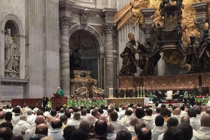 Papa Messa con i Cappuccini