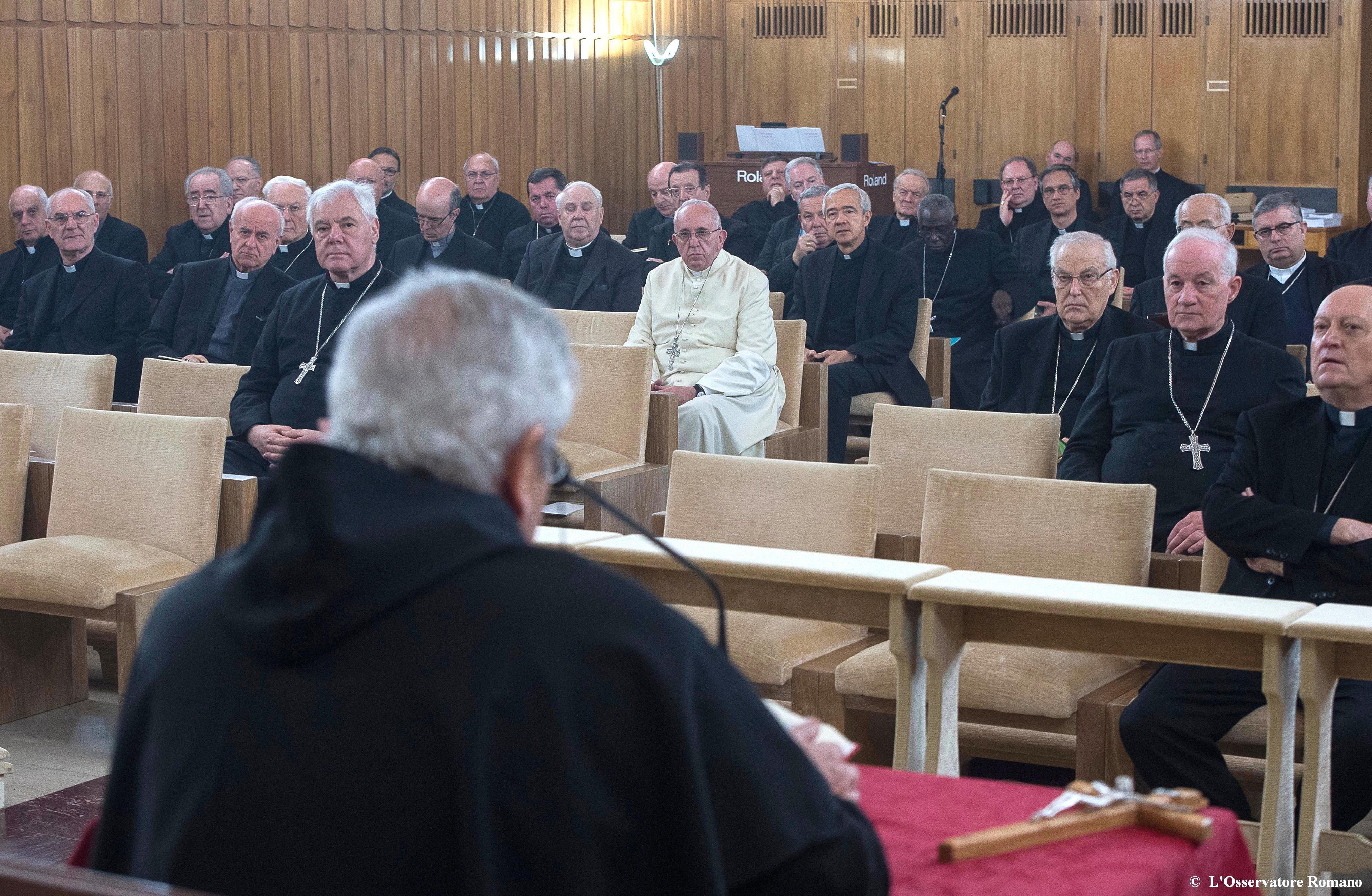 Padre Ronchi predica gli Esercizi Spirituali