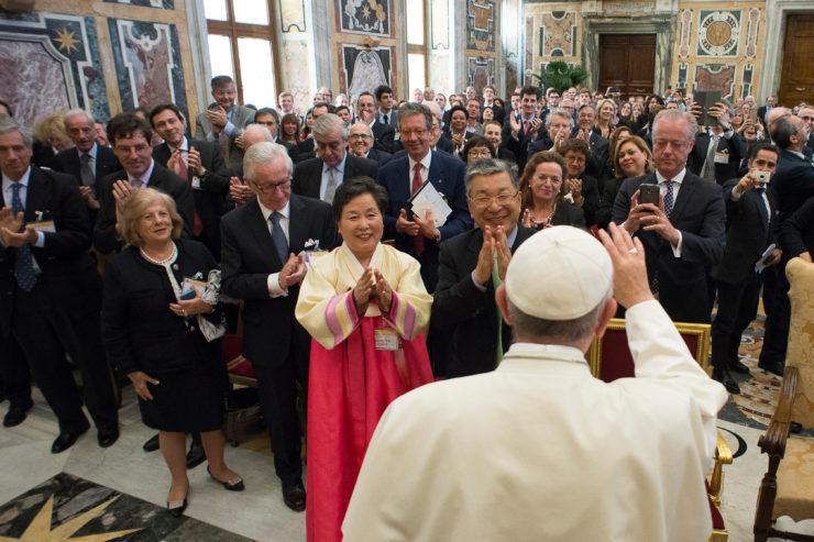 Papa udienza Fondazione 'Centesimus Annus'
