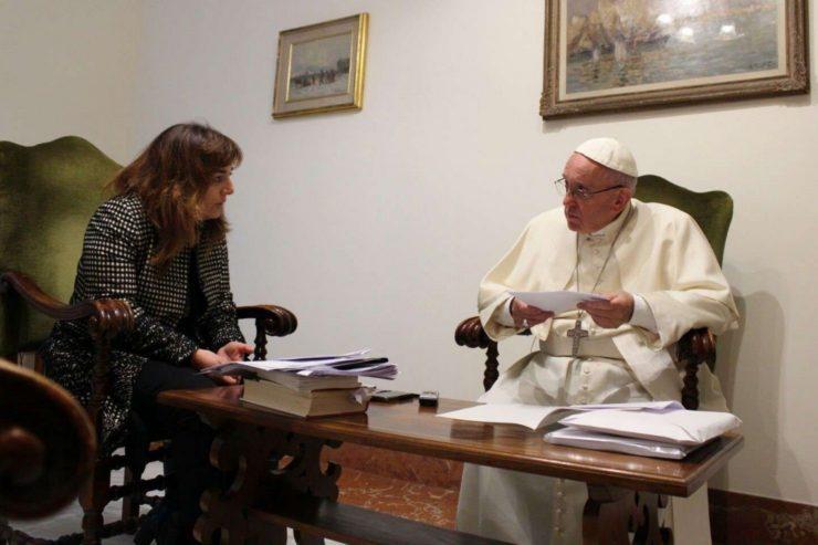 Papa Francesco e Stefania Falasca
