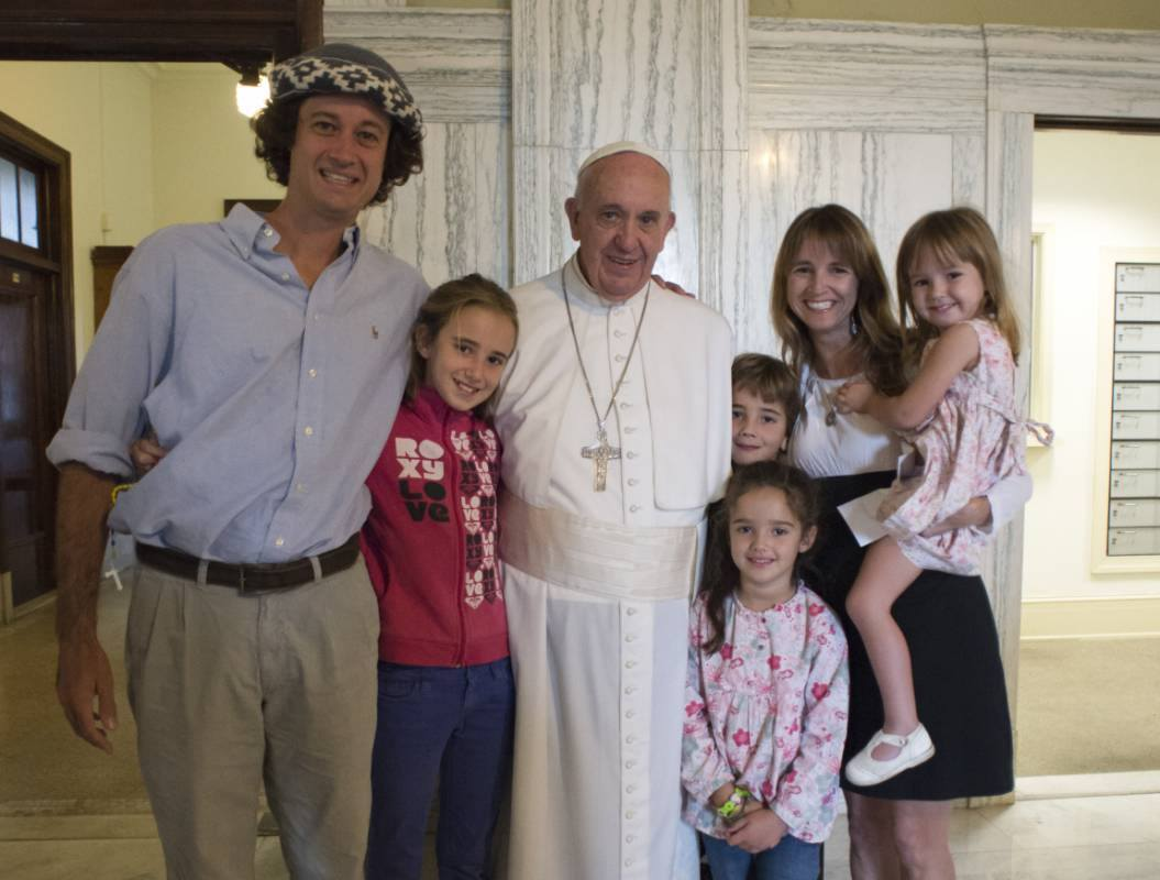 The Walker Family with Pope Francis