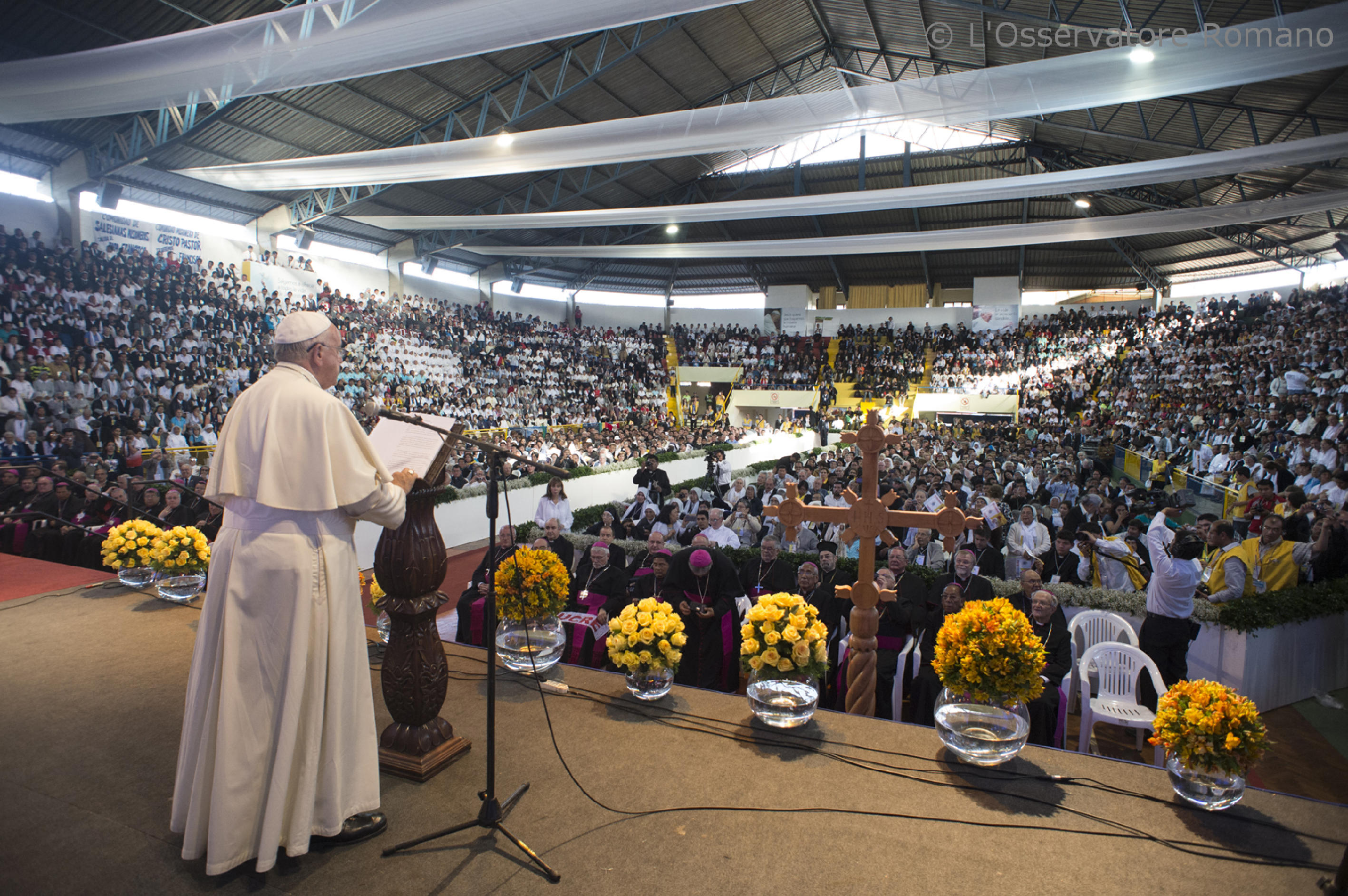 Pope Francis at the 2nd World Meeting of Popular Movements