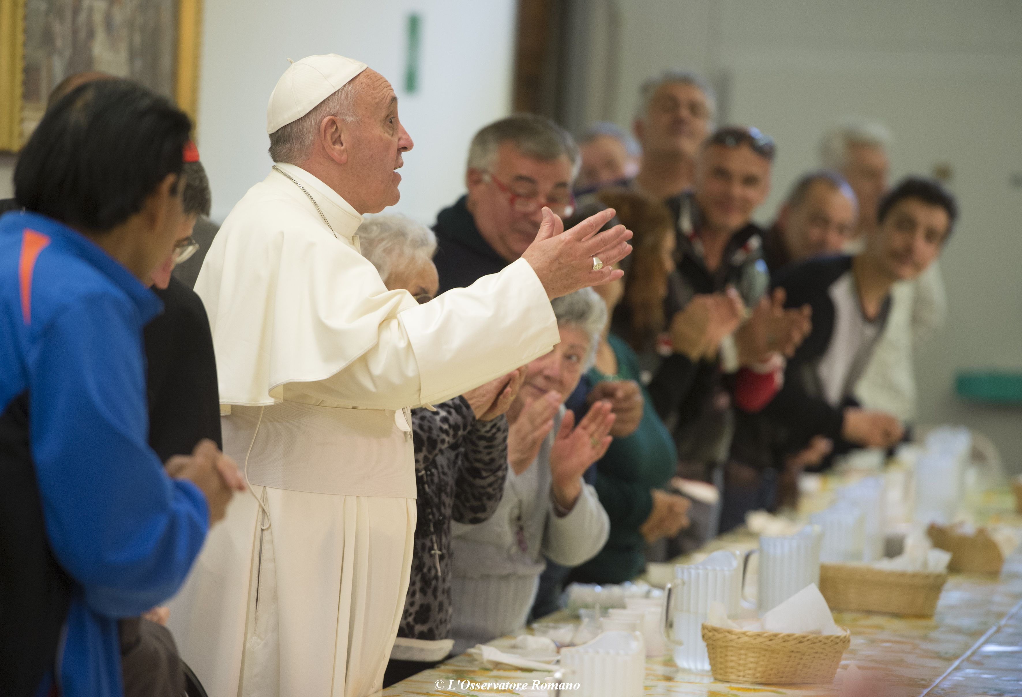 Lunch with the city's poor at St. Francis' Soup Kitchen (Mensa di San Francesco) in Florence
