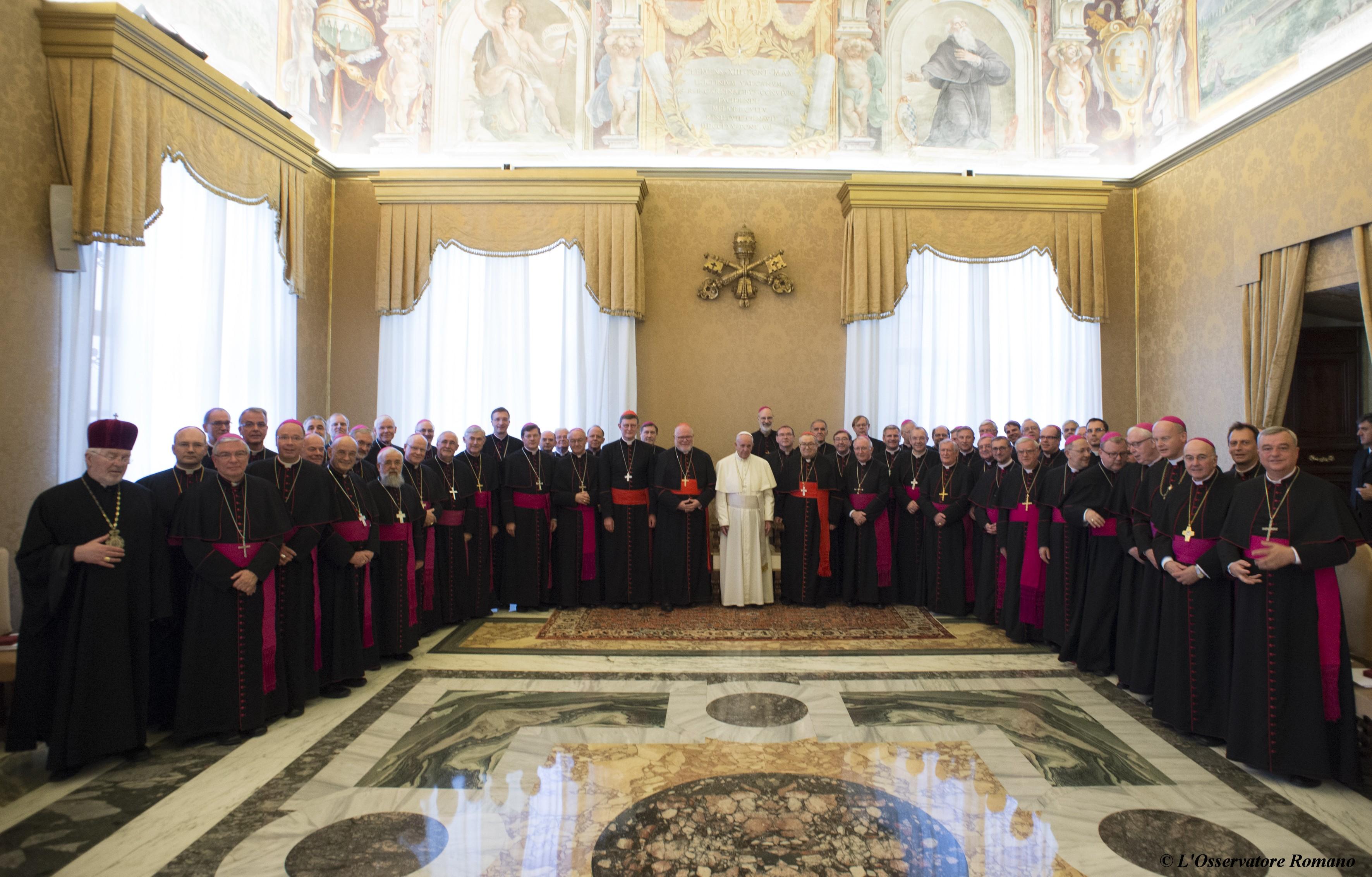 "Pope Francis receives the German bishops during their visit ""ad limina apostolorum"""