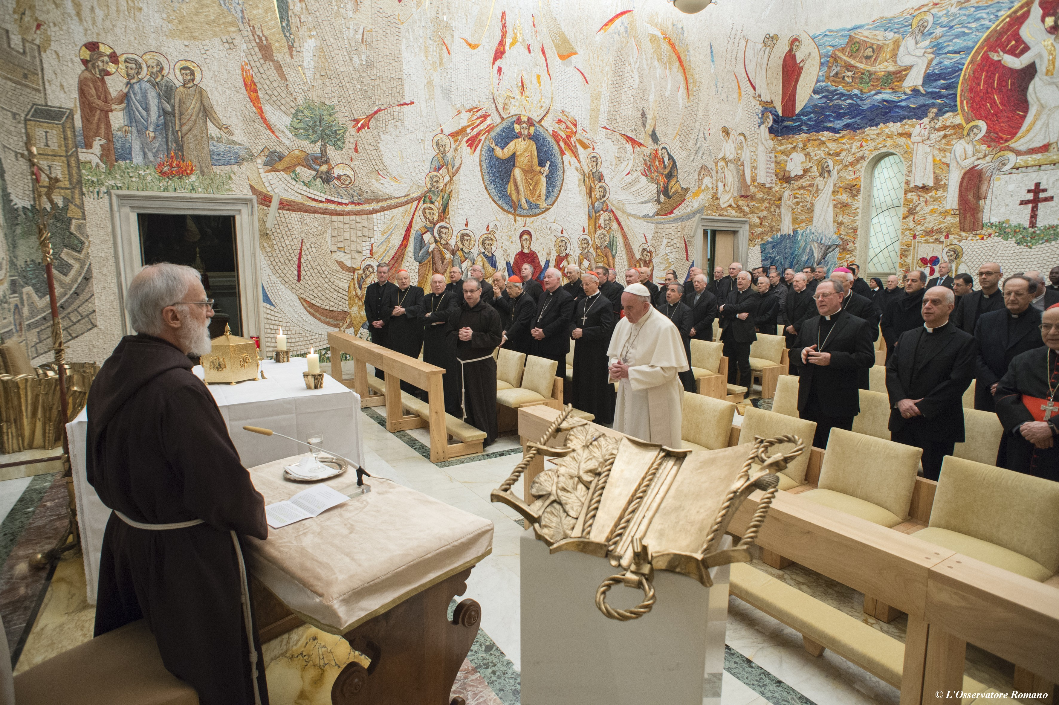 The first Advent homily for 2015 was preached by Fr Raniero Cantalamessa