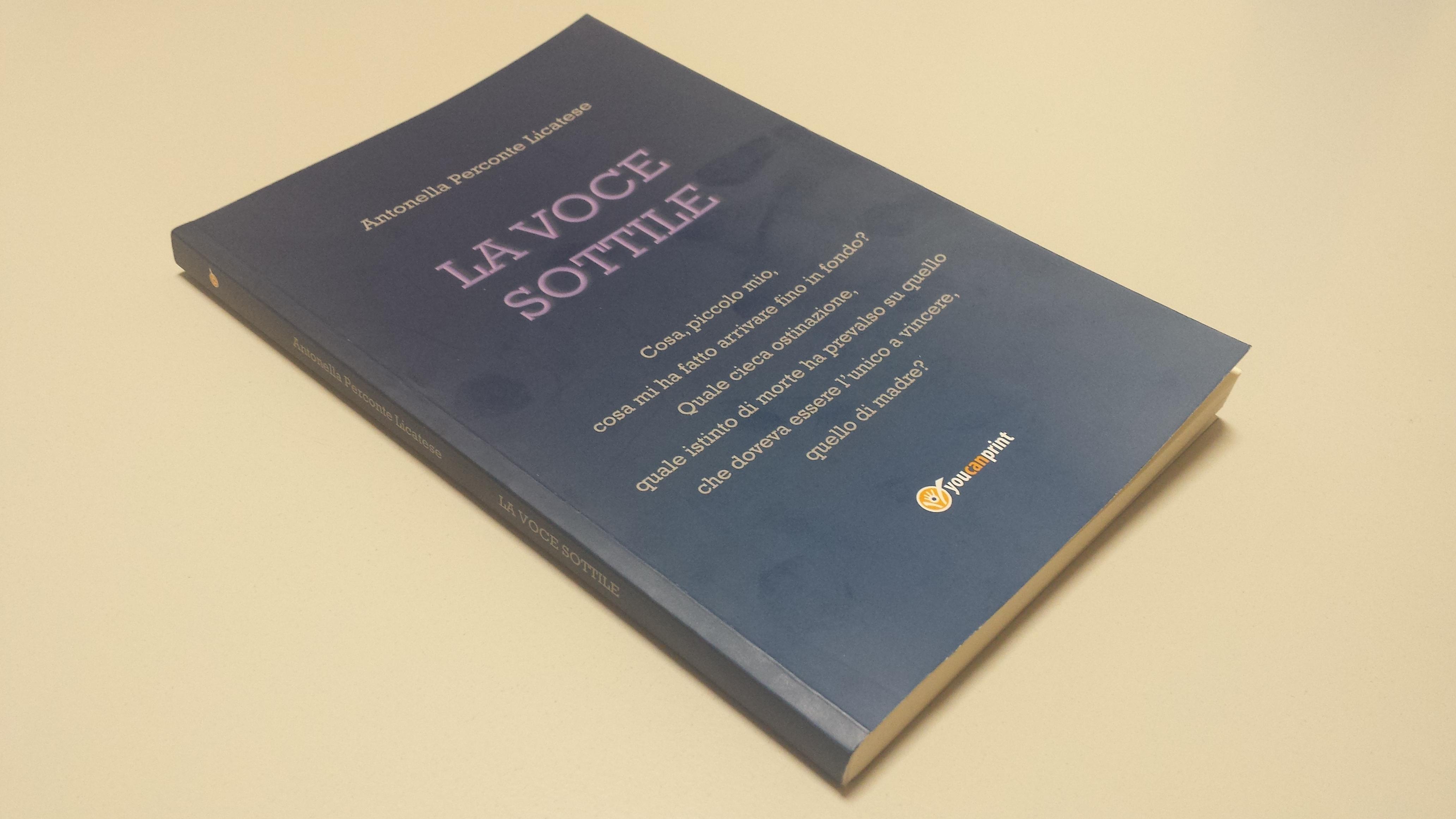 """Cover of the book """"La voce sottile"""""""