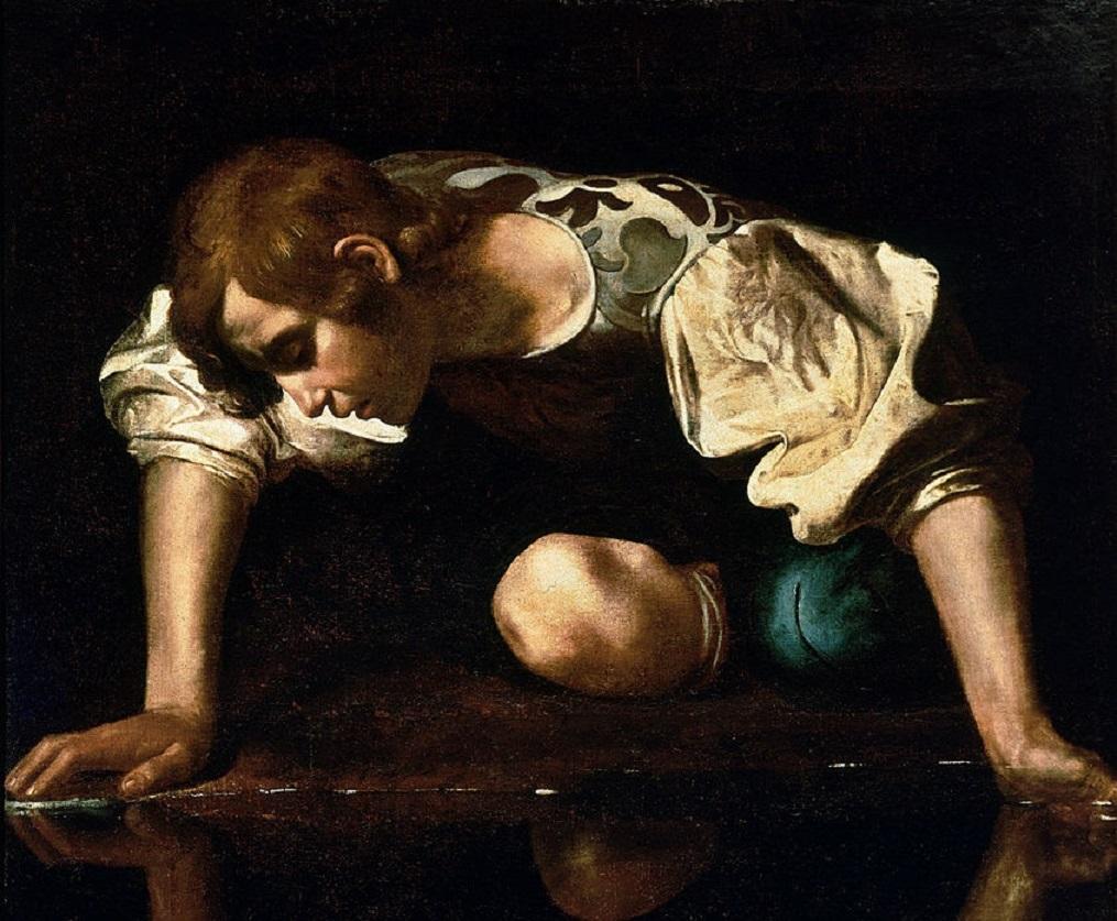 Narcisus by Caravaggio