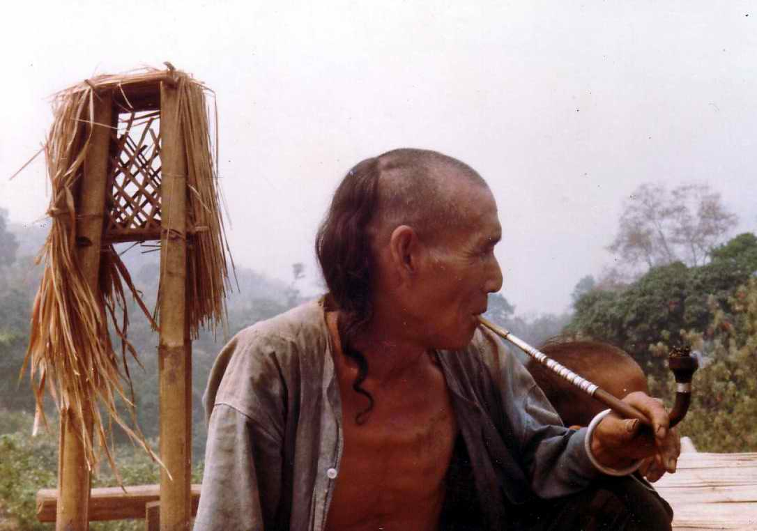 Akha man (an indigenous hill tribe who live in the mountains of Thailand