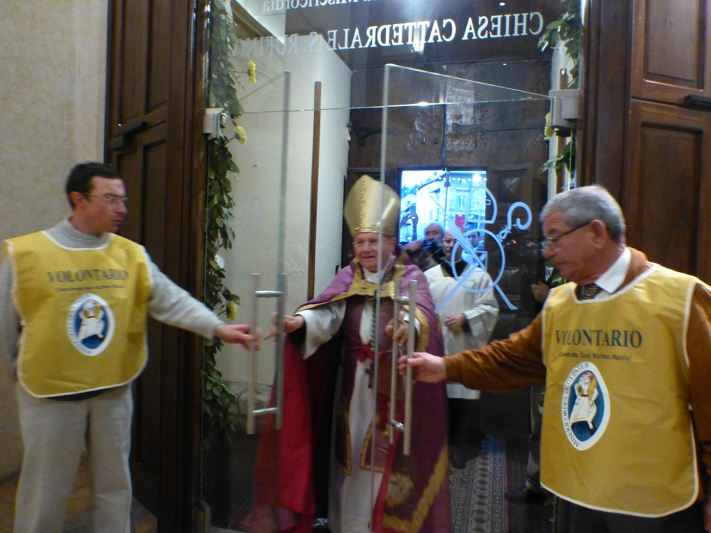 Opening of Holy Door in Assisi's Cathedral
