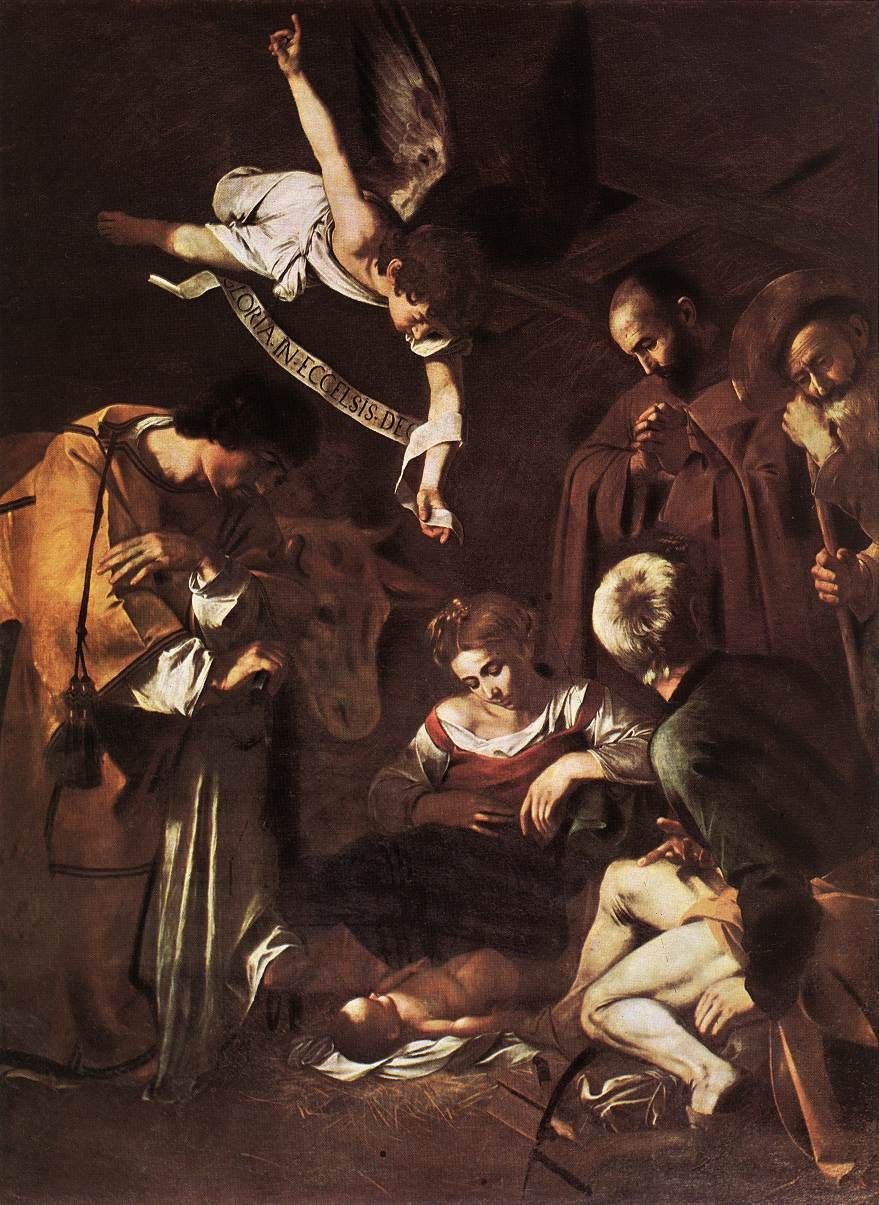 Caravaggio - Natavity with Saint Francis