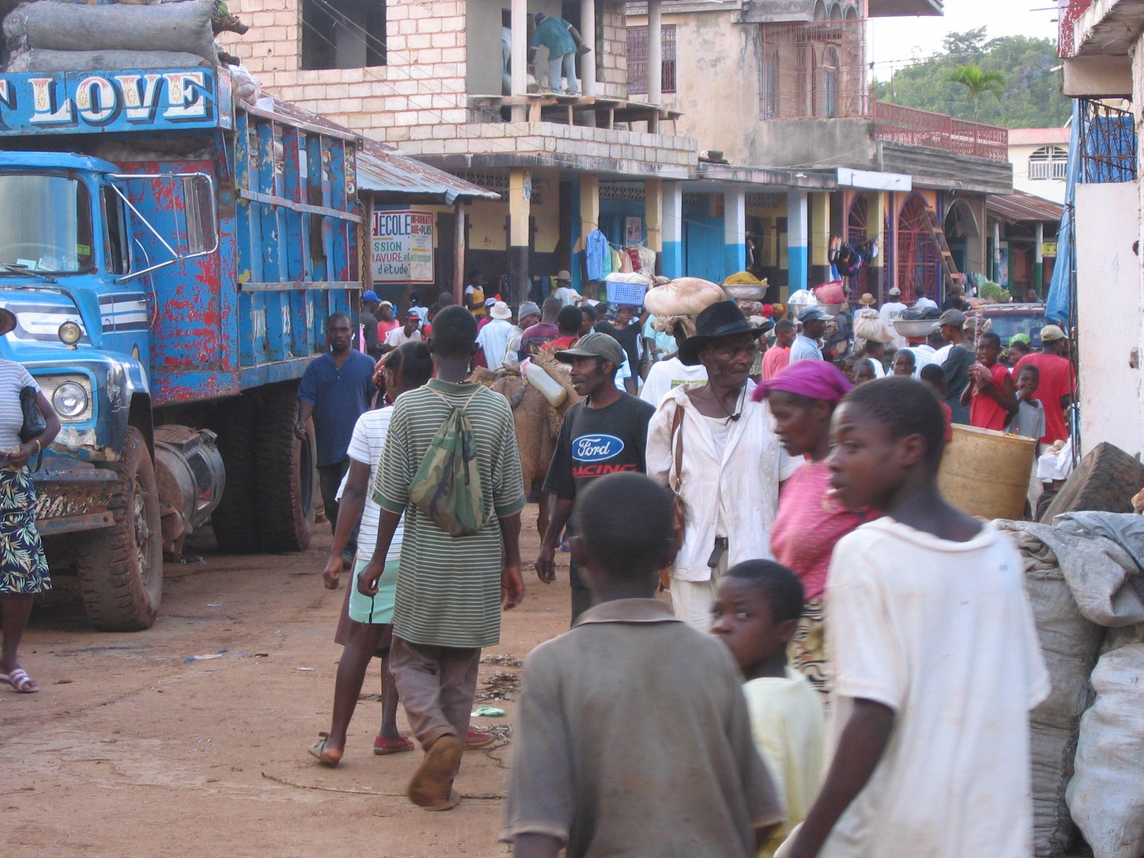 Street of Jérémie (Haiti)