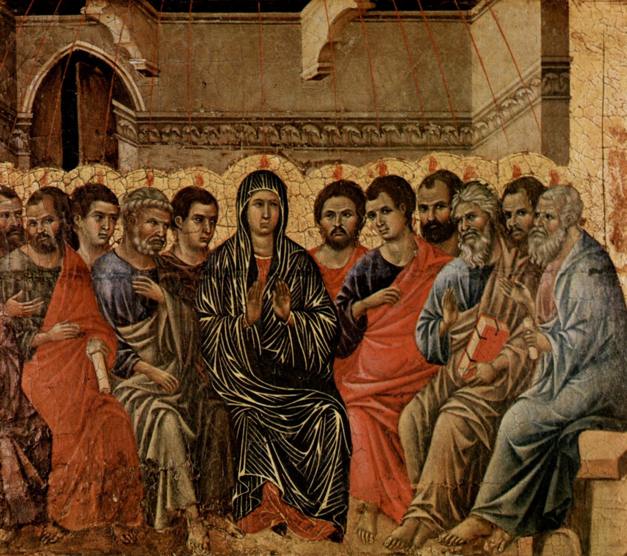 Pentecost by Duccio di Buoninsegna (1260-1318)