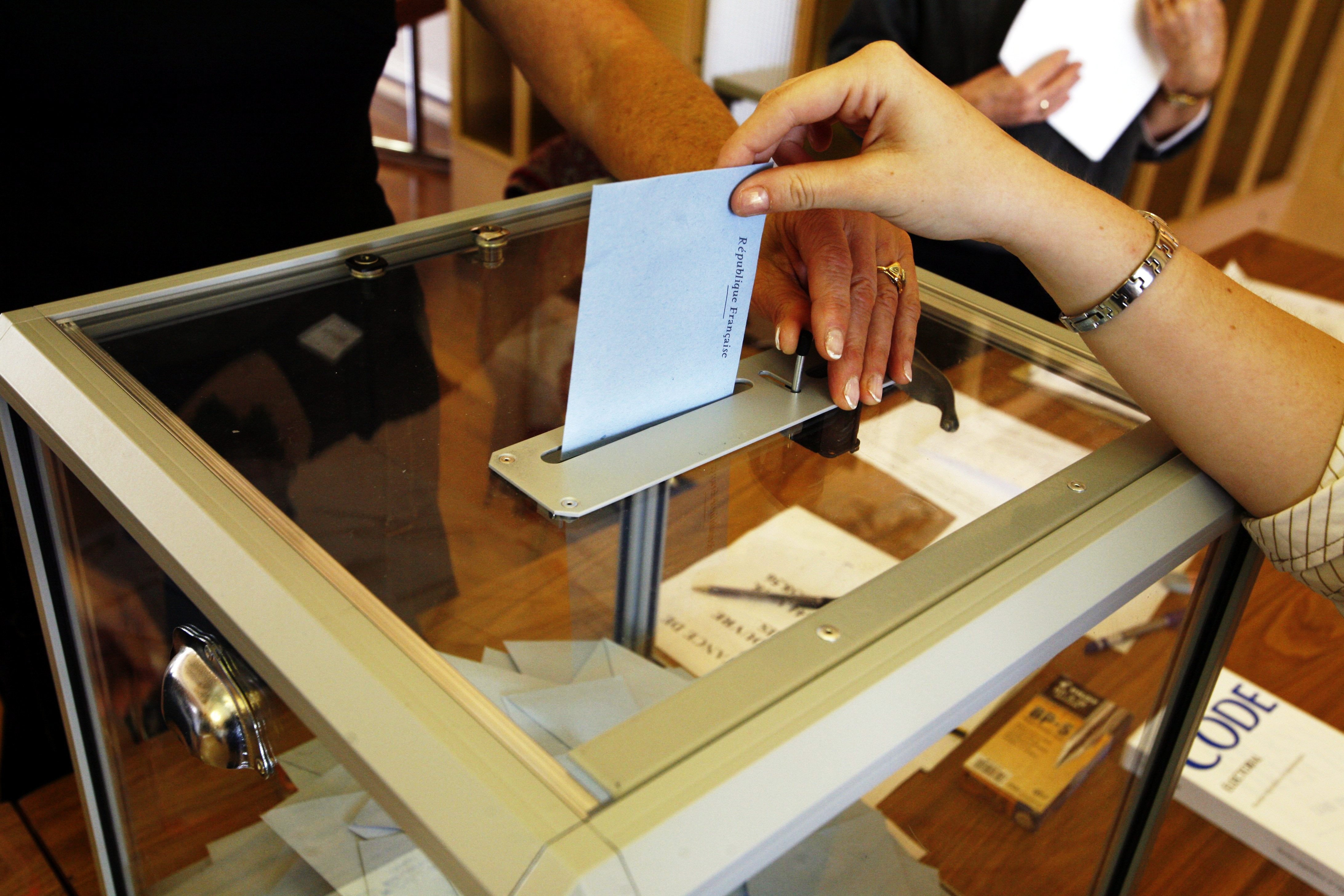 Election - a ballot box in France