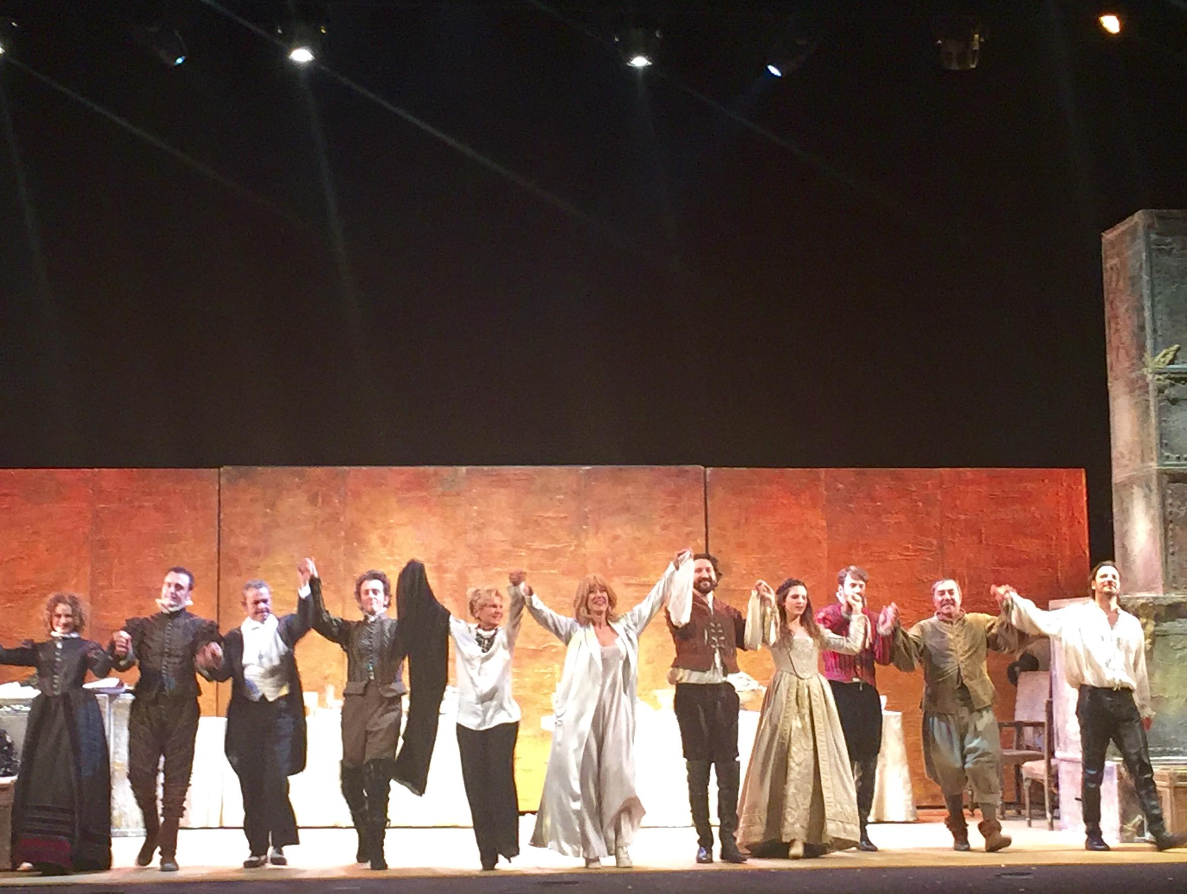 La bisbetica domata. Play by W.Shakespeare at Teatro Quirino in Rome