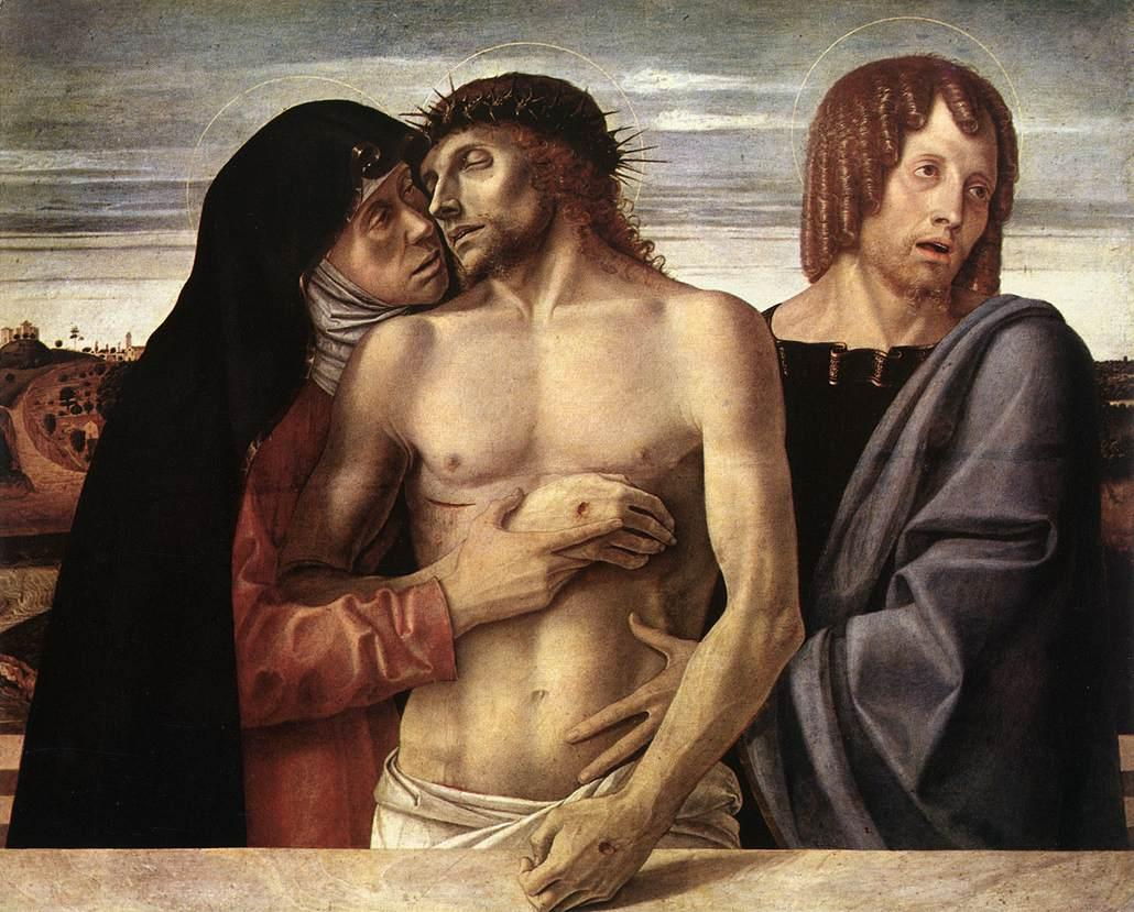 """""""Pietà. Dead Christ Supported by the Madonna and St John"""""""