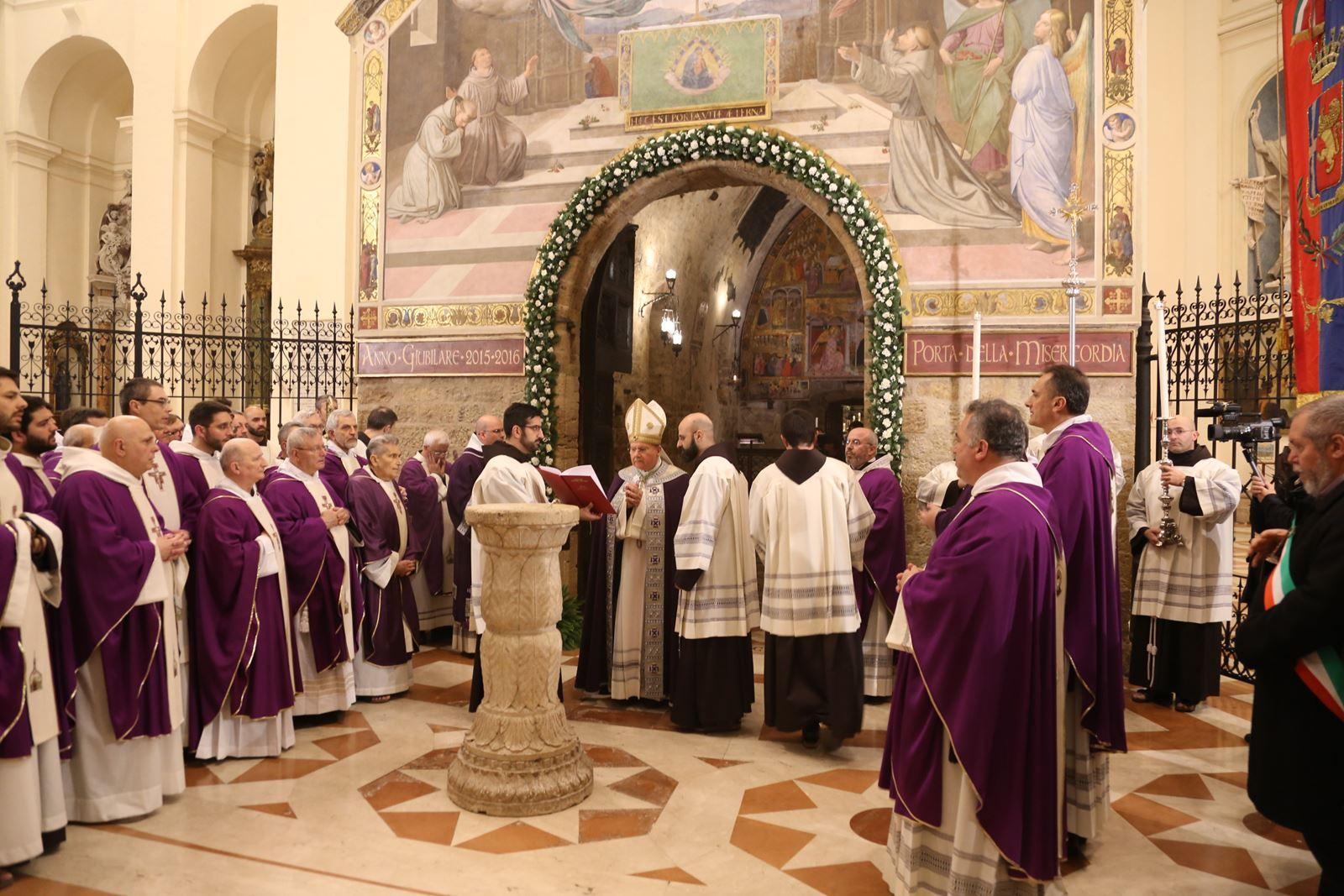 Opening of Holy Door in Assisi's Porziuncola