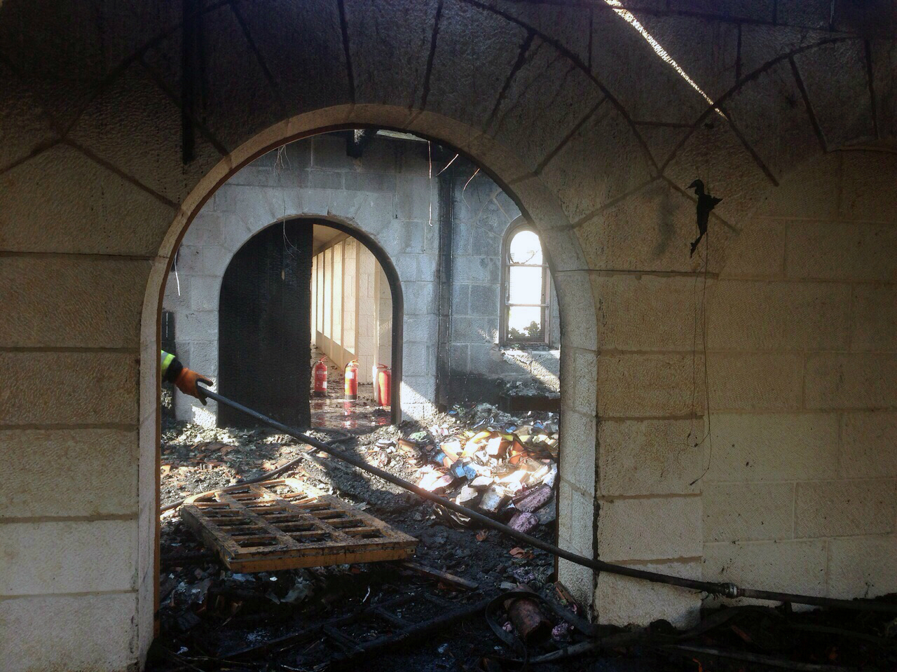 Arson attack against catholic monastery of the Multiplication at Tabgha