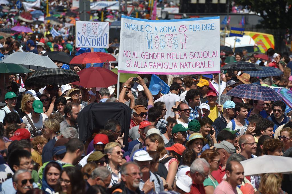 Family day against the gender ideology in the schools - june 20  2015 - Roma