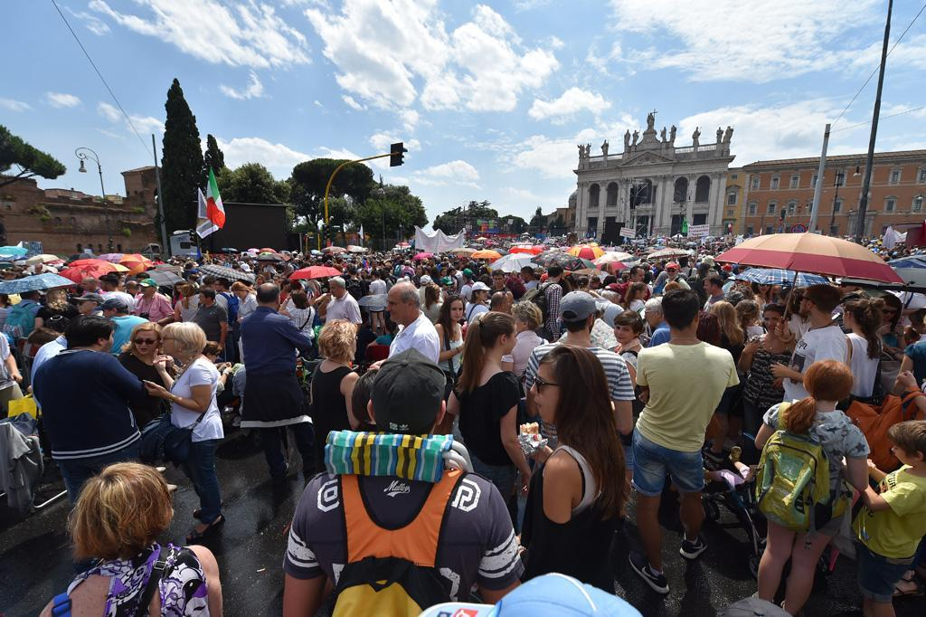 Family day against the gender ideology in the schools in San Giovanni in Laterano square  - 20 june  2015 - Roma