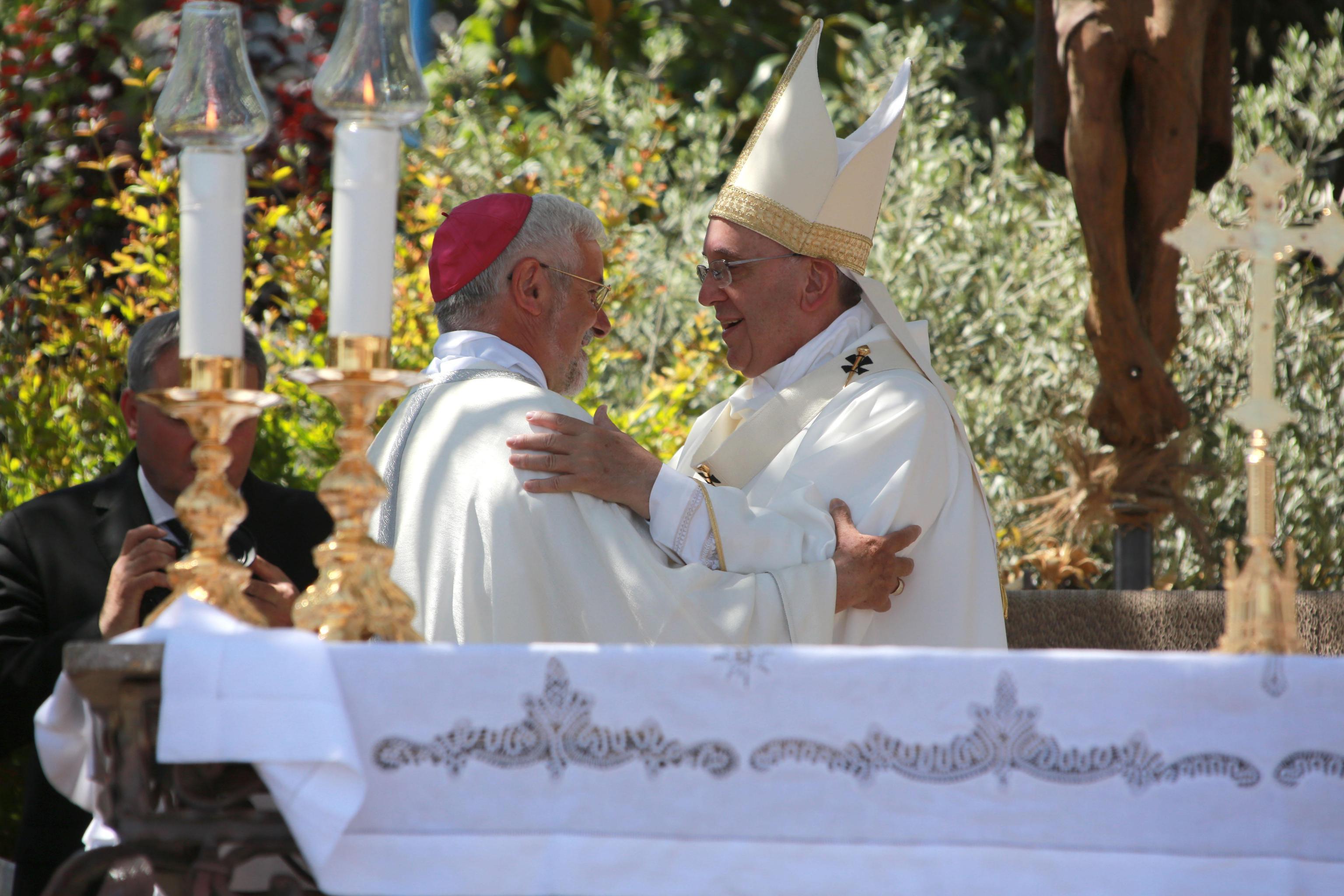 Pope Francis and Mgr. Giancarlo Maria Bregantini