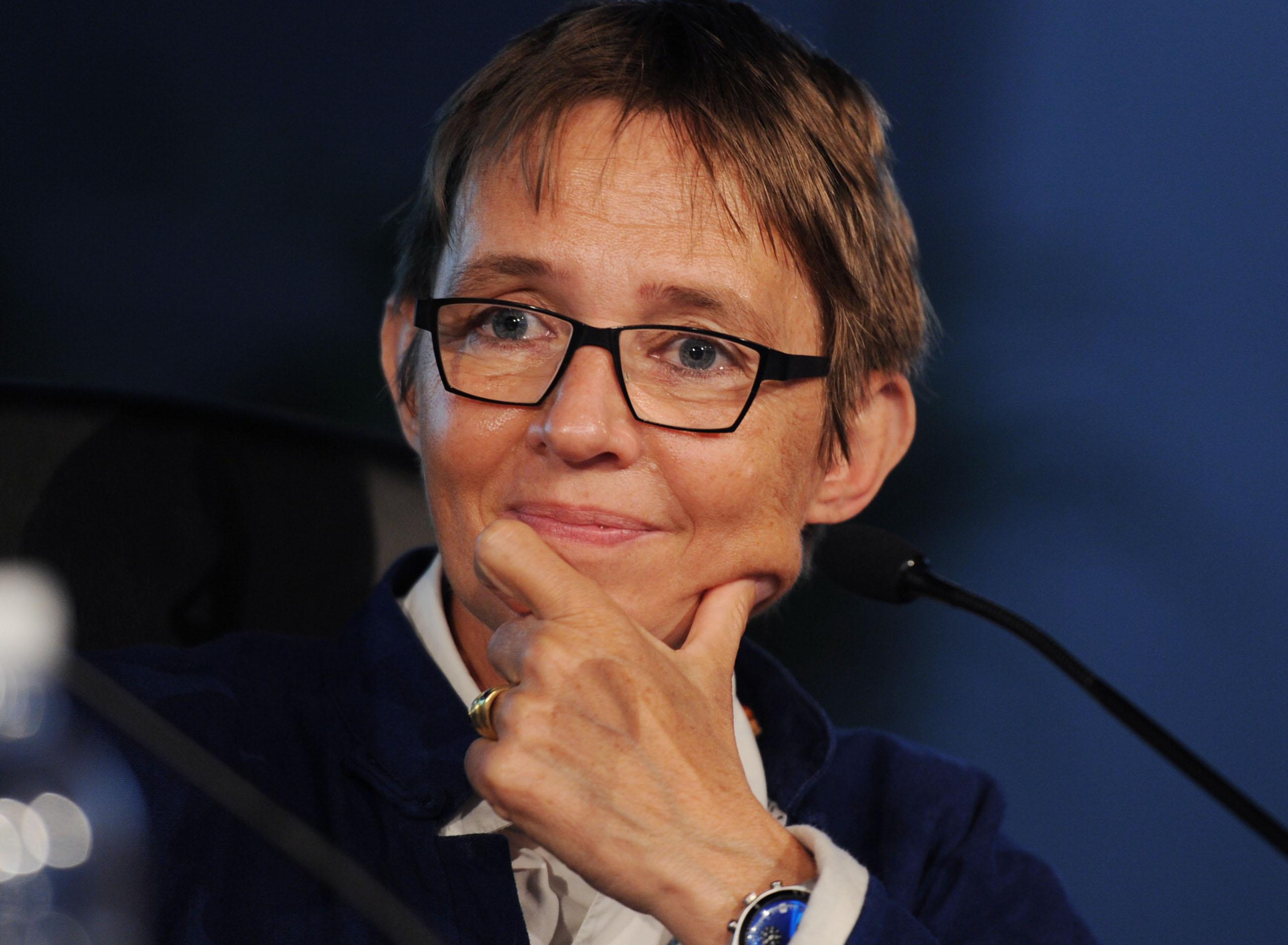 "Susanna Tamaro during the presentation of her novel ""Per sempre"""