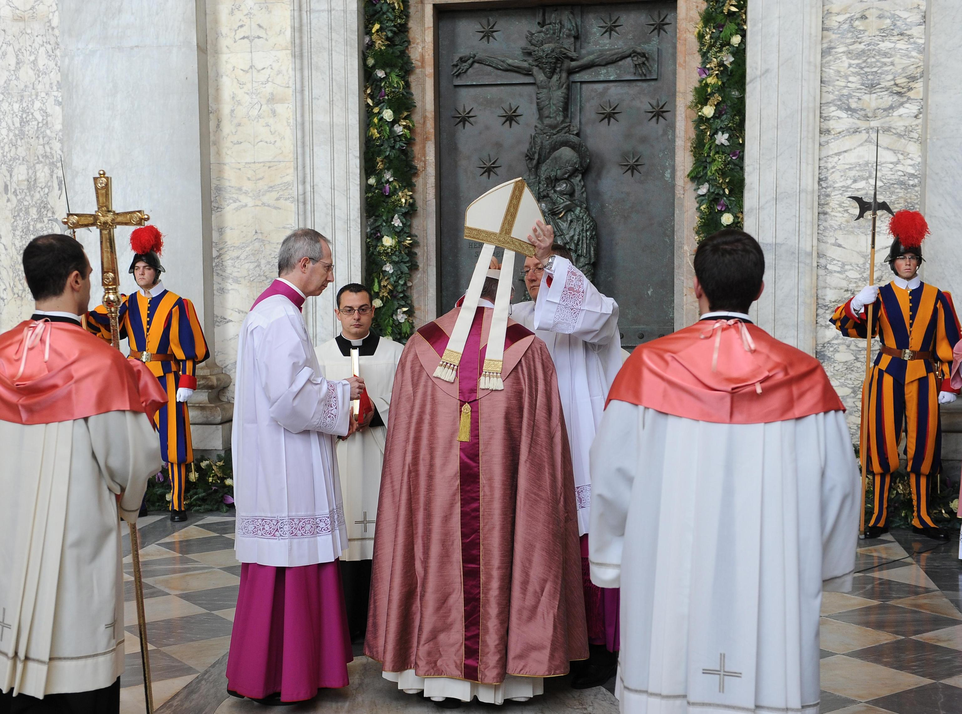 Pope Francis opens the Holy Door of St John Basilica