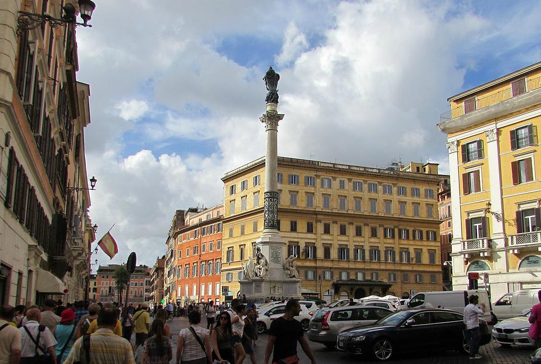 The Column of the Immaculate Conception or la Colonna della Immacolata