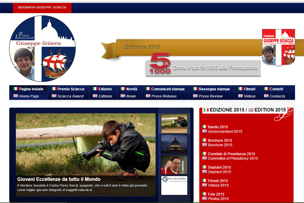 "Website of  ""Sciacca Award"""