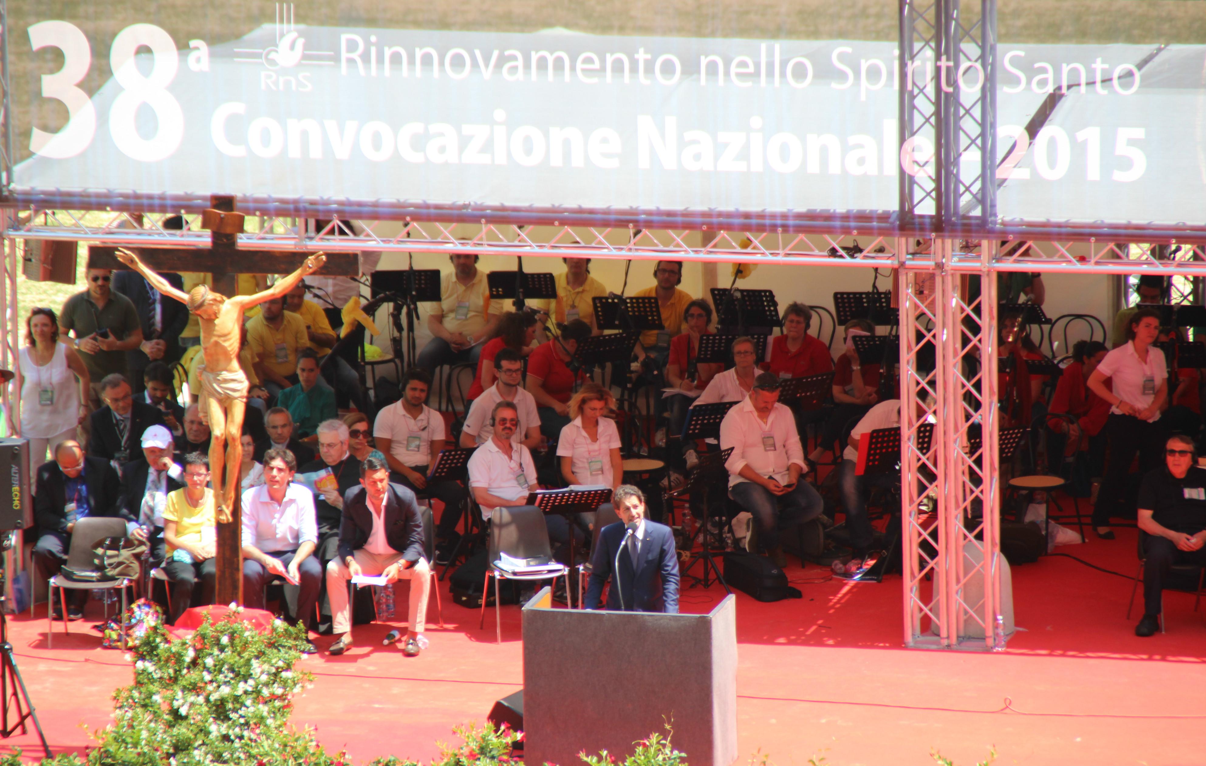 Salvatore Martinez at 38° national convocation of Rinnovamento nello Spirito Santo (Rome