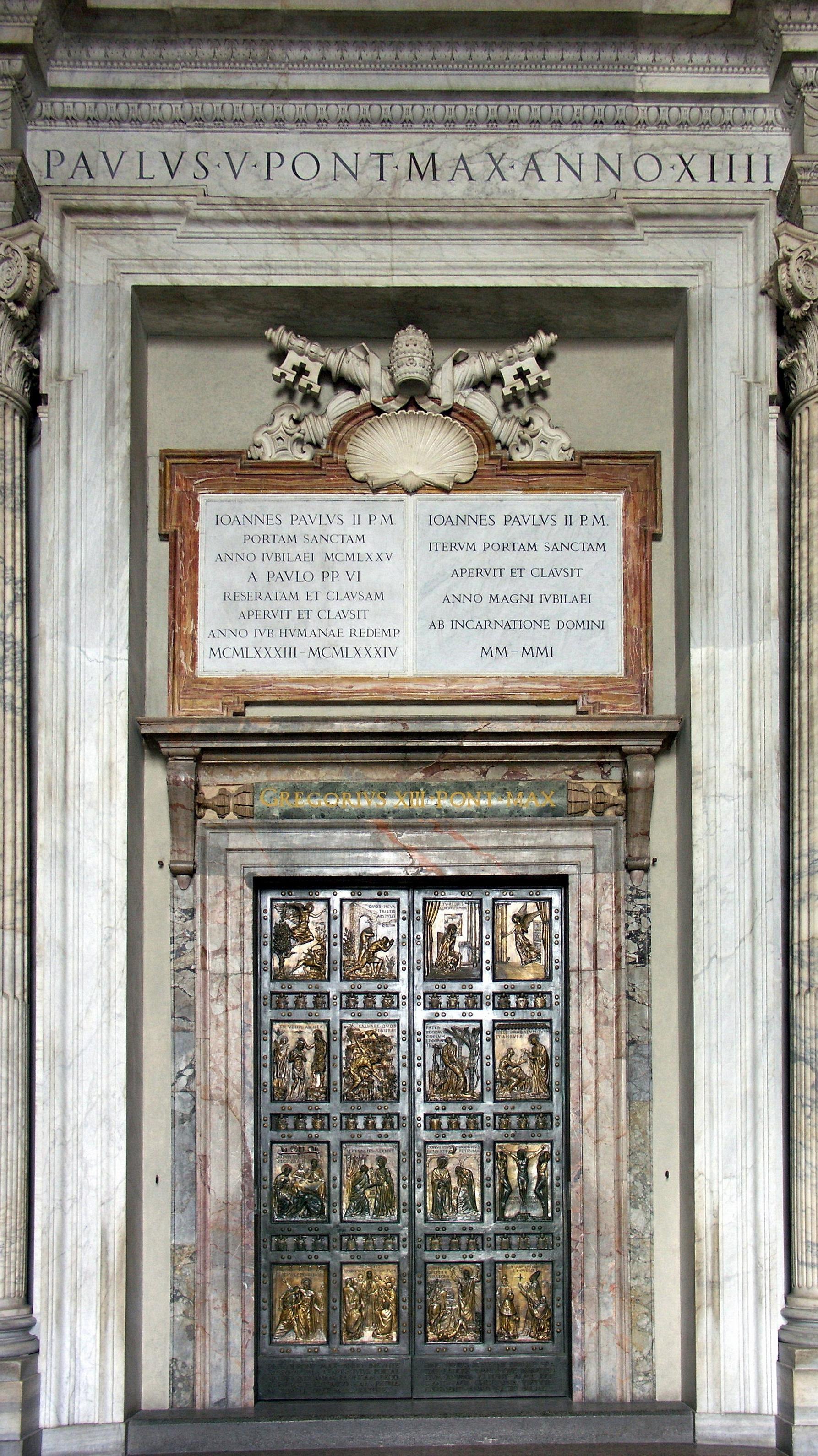 La Porta santa della basilica di San Pietro - Vico Consorti
