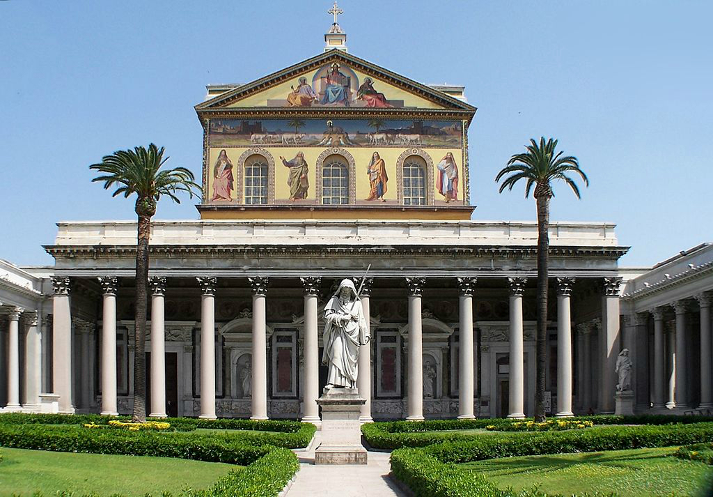 The Papal Basilica of St. Paul outside the Walls in Rome