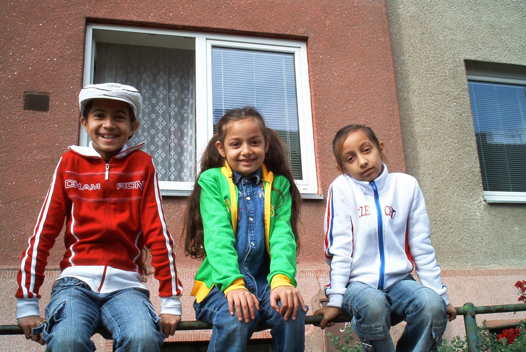 Romany children (gipsies)
