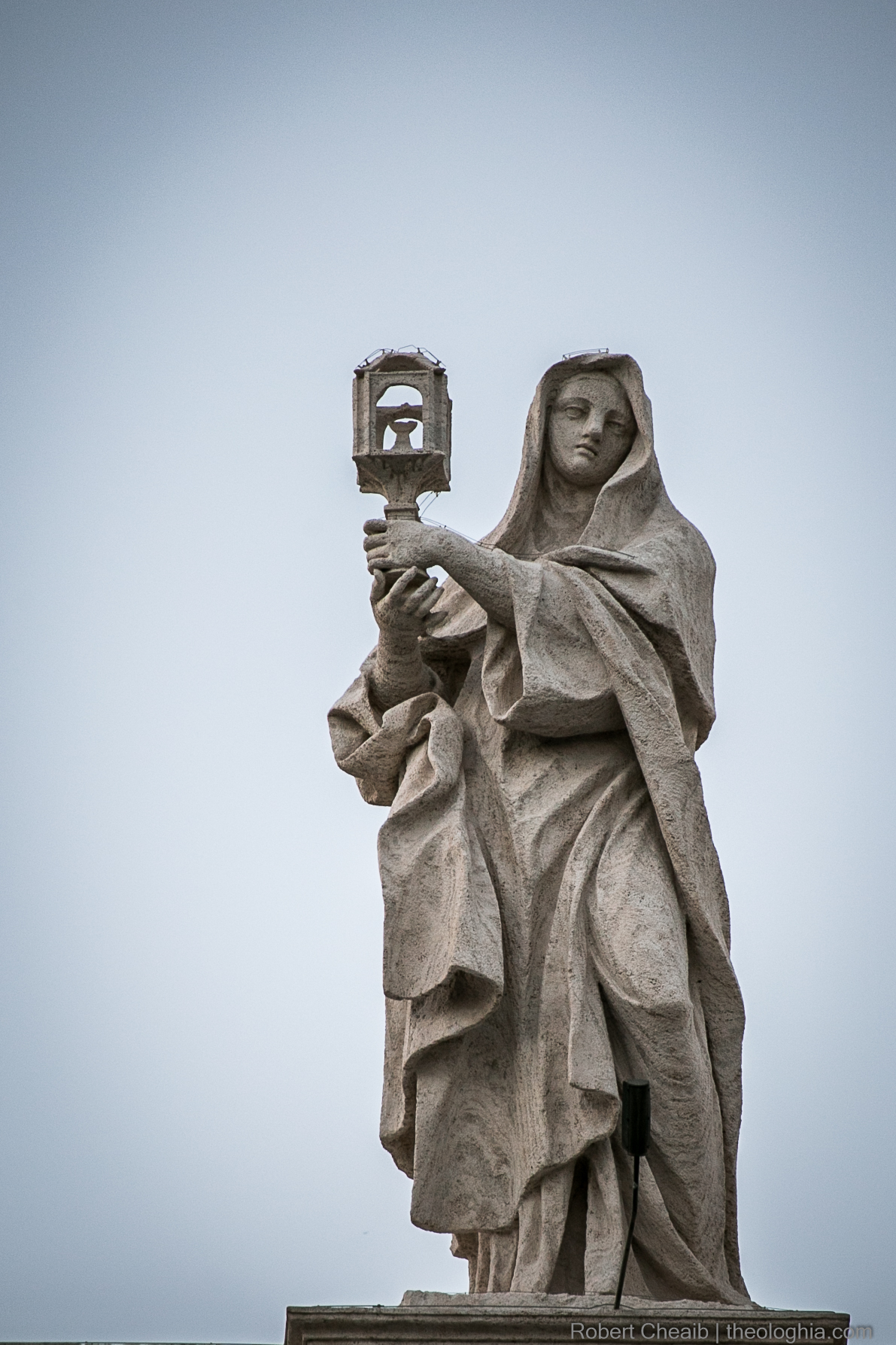 Saint Claire (Chiara) of Assisi in the Vatican Basilica Right Ala Bernini School